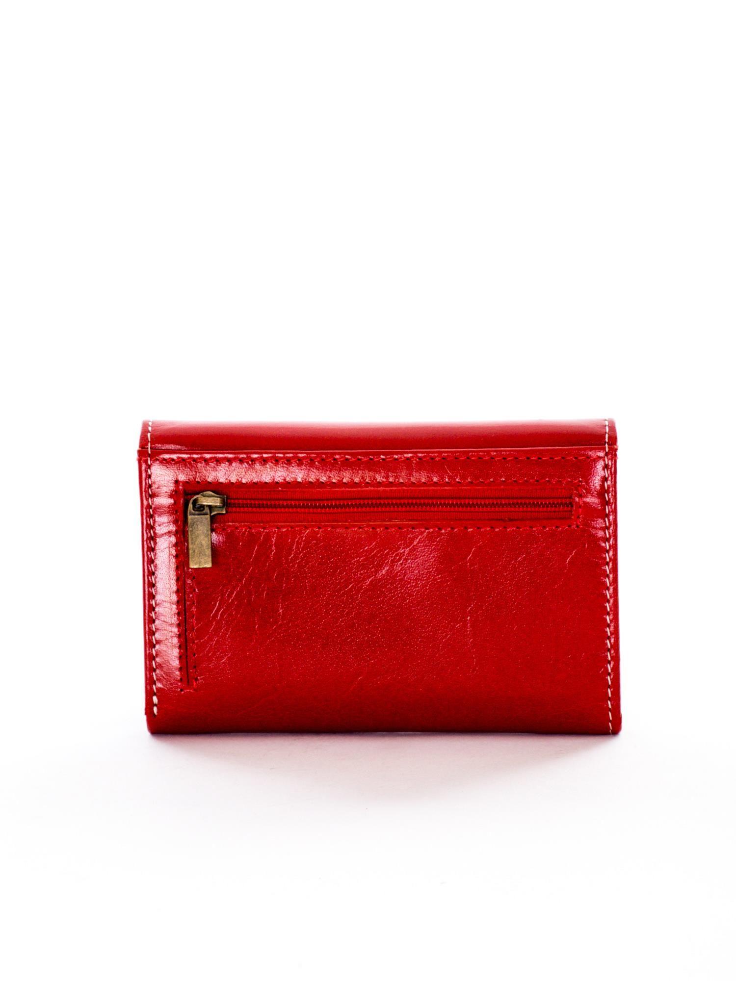 9b43308eefbd7 Czerwony portfel skórzany damski - Akcesoria portfele - sklep eButik.pl