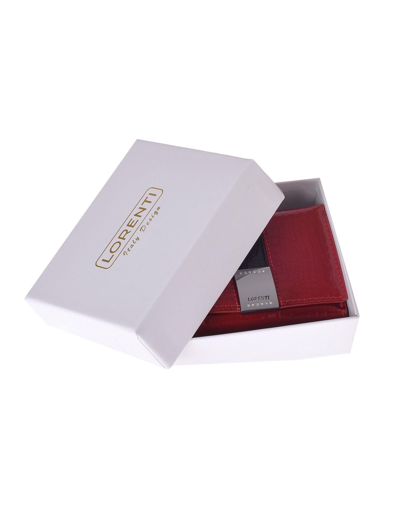 921d6de83bbfa 5 · Czerwony skórzany portfel damski ze wzorem skóry krokodyla ...