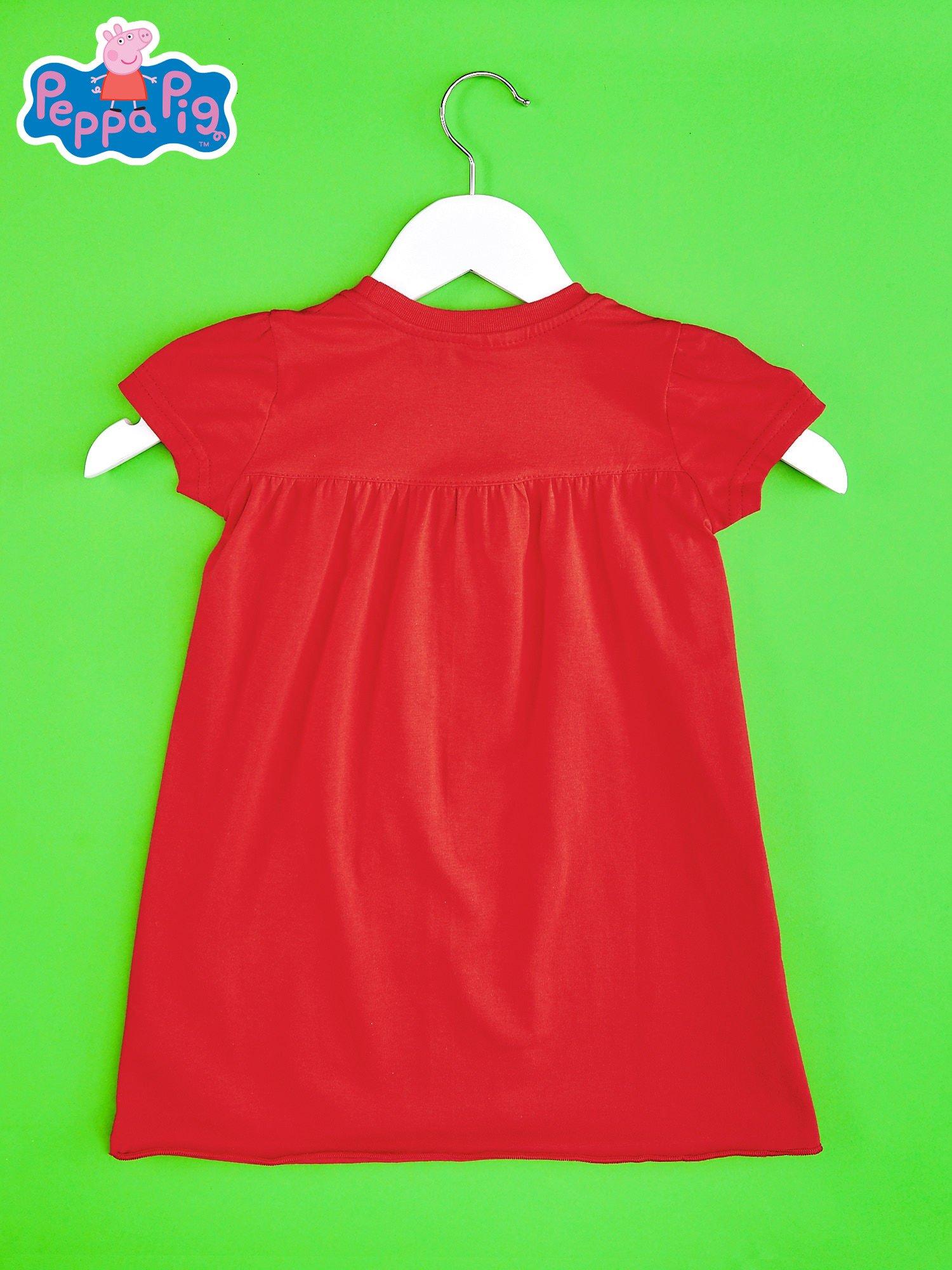 Czerwony t-shirt dla dziewczynki ŚWINKA PEPPA                                  zdj.                                  2