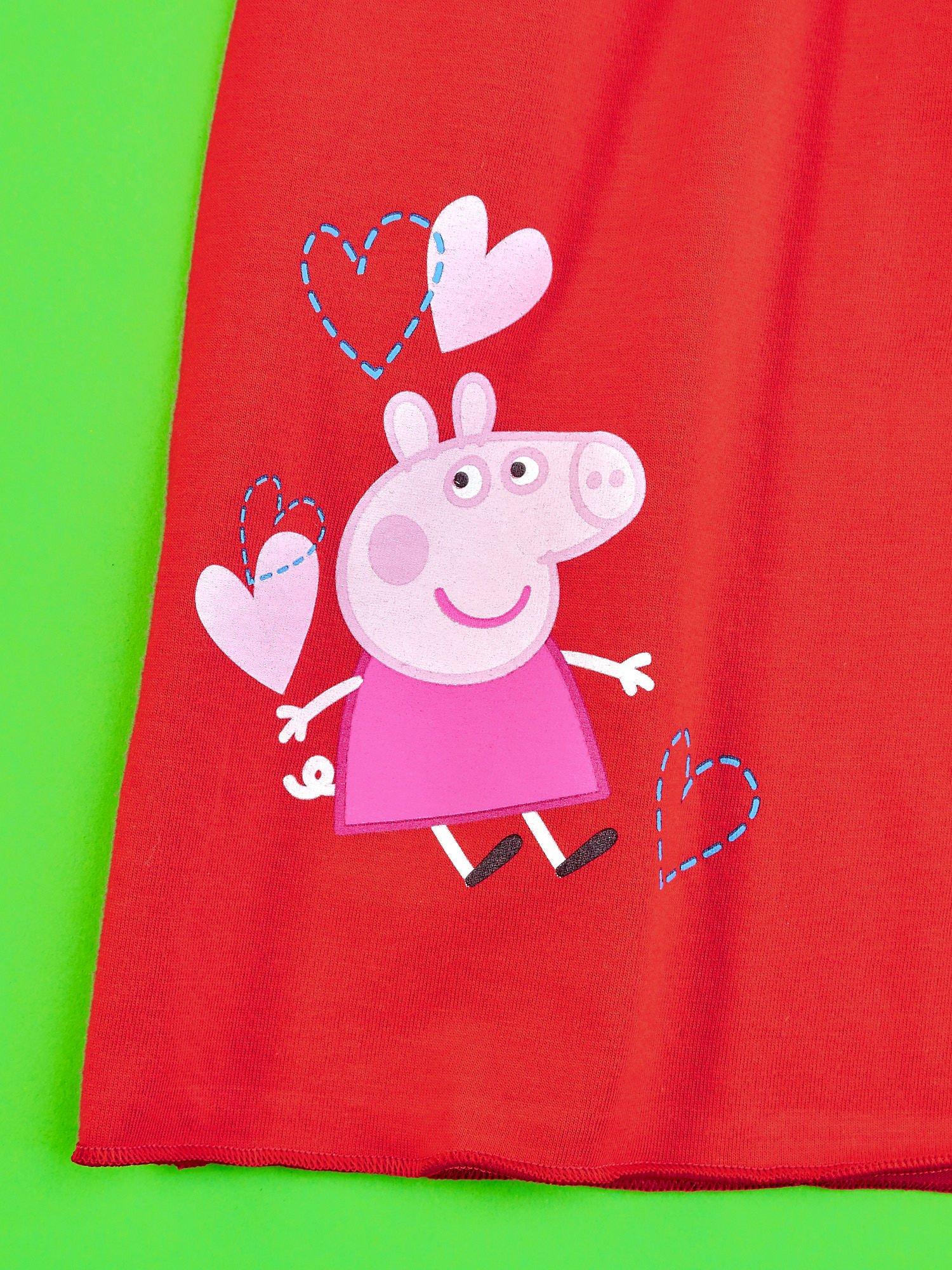 Czerwony t-shirt dla dziewczynki ŚWINKA PEPPA                                  zdj.                                  4