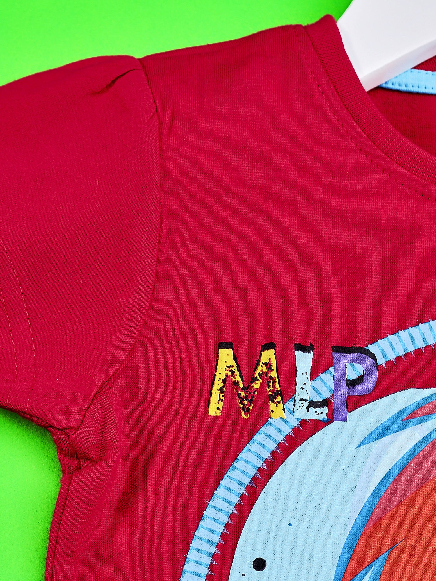 Czerwony t-shirt dla dziewczynki  motywem bajki MY LITTLE PONY                                   zdj.                                  5