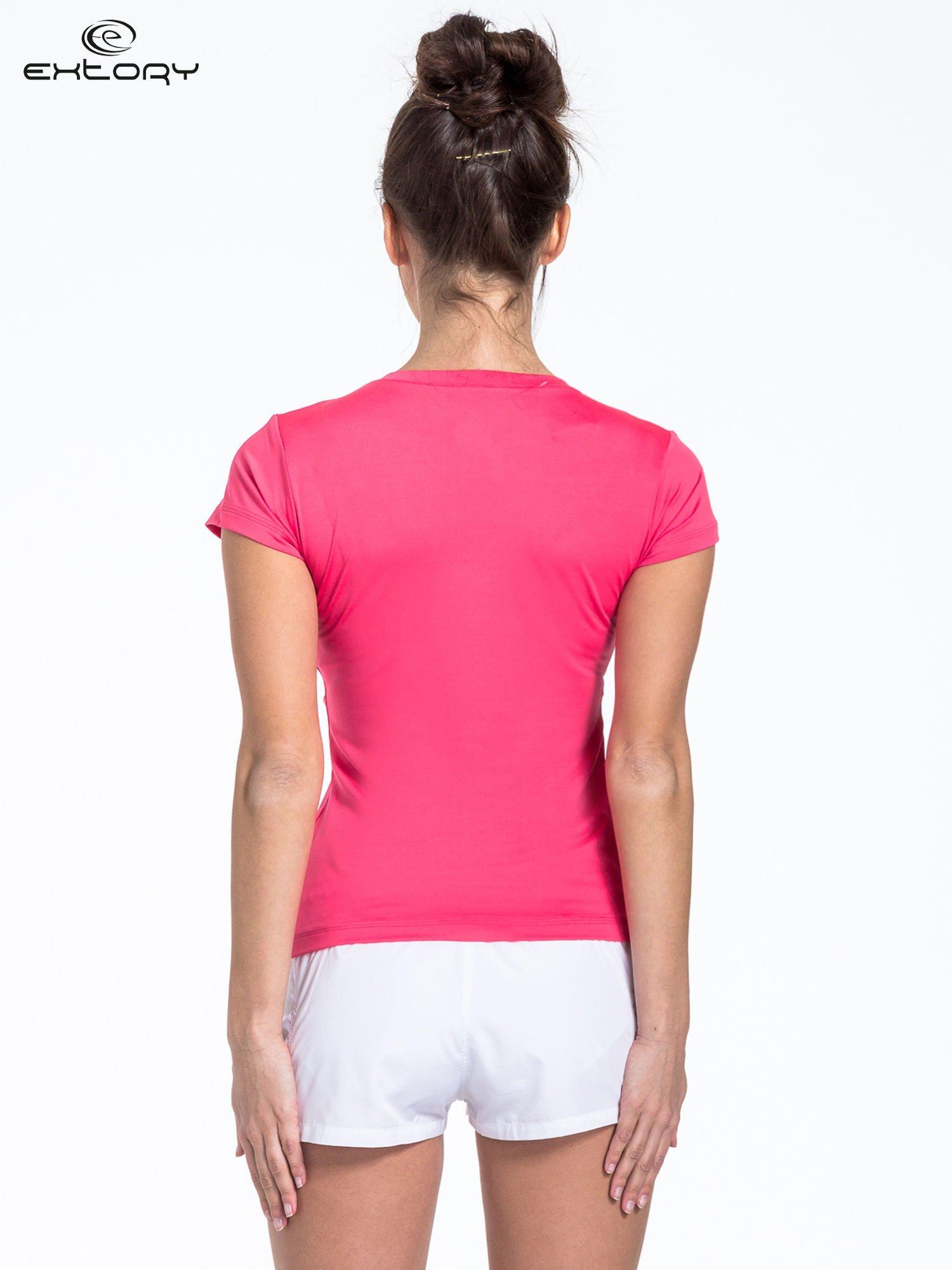 Czerwony t-shirt sportowy basic                                  zdj.                                  2