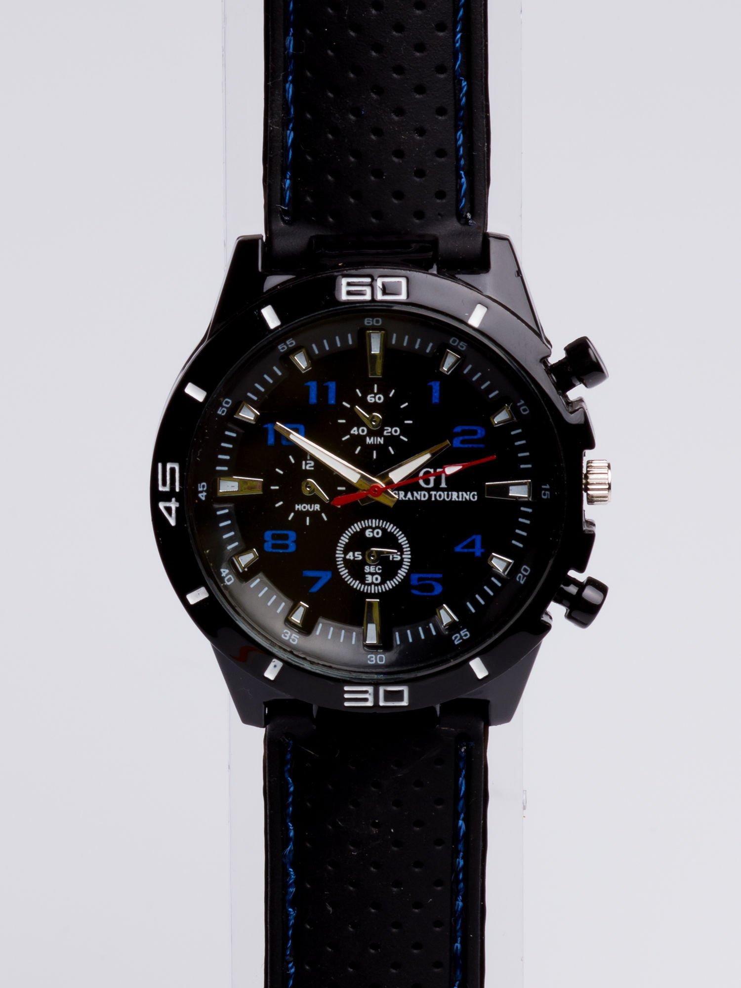 DLA NIEGO... Czarno-niebieski sportowy zegarek męski GT GRAND TOURING                                  zdj.                                  3