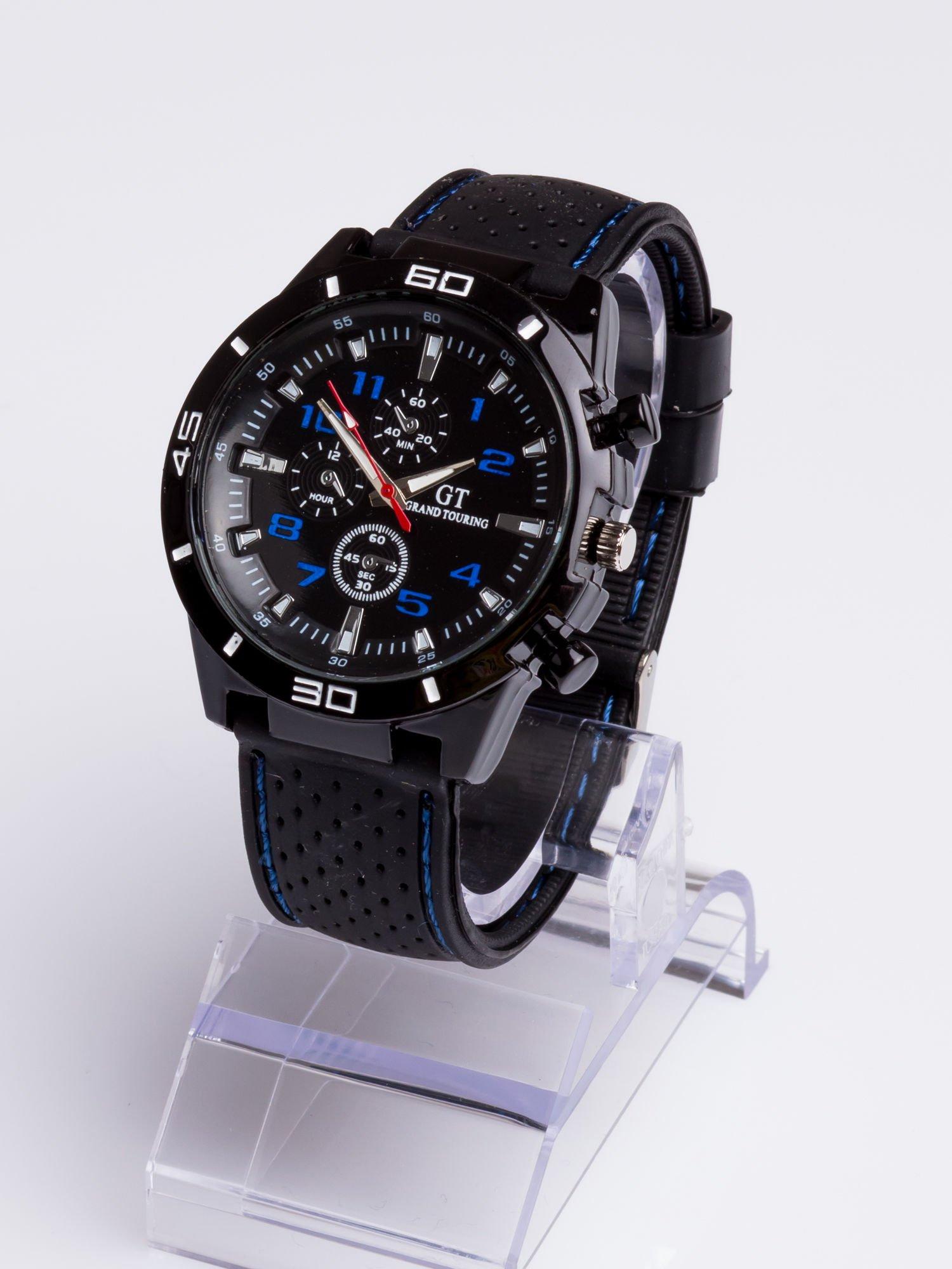 DLA NIEGO... Czarno-niebieski sportowy zegarek męski GT GRAND TOURING                                  zdj.                                  2