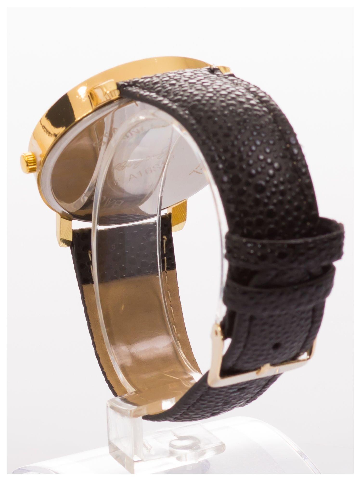 Damski zegarek. Duża, wyraźna tarcza. Elegancki. Ozdobny datownik. Doskonały na każdą okazję.                                   zdj.                                  4