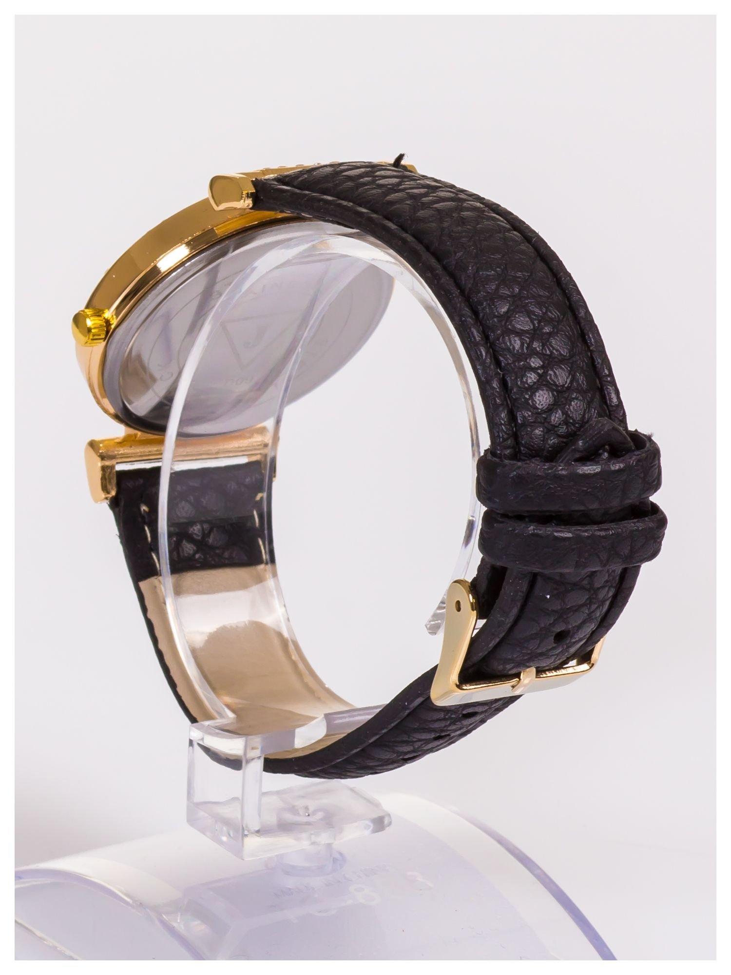 Damski zegarek z ozdobnymi cyrkoniami. Bardzo szykowny.                                  zdj.                                  5