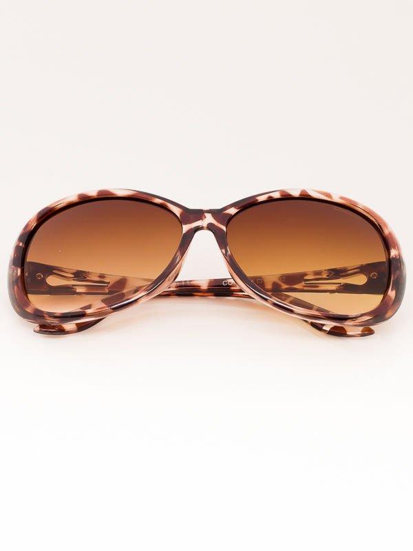 Okulary przeciwsłoneczne damskie MUCHY brąz