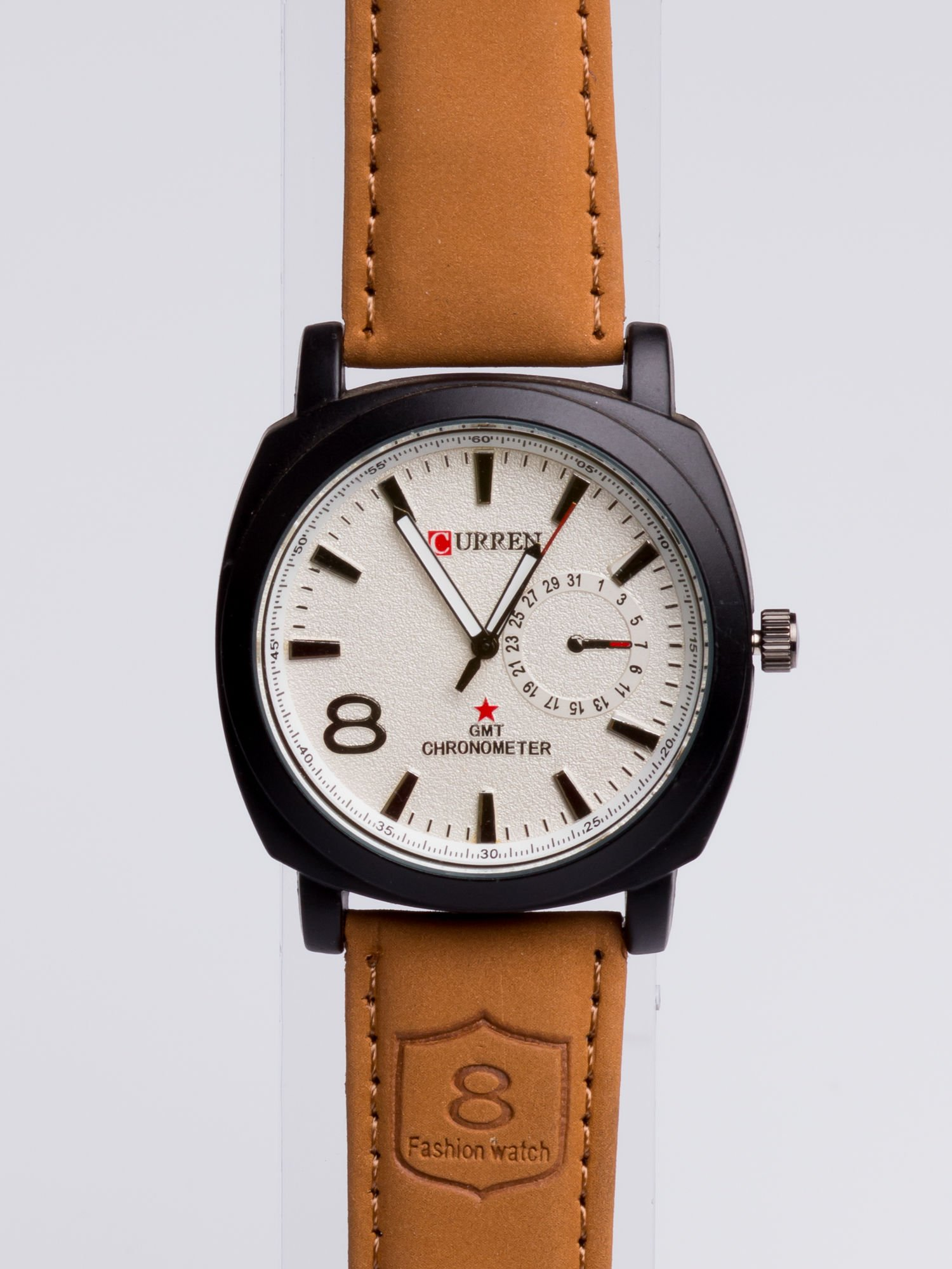 Dla Niego - Gustowny i nowoczesny piękny zegarek męski na skórzanym pasku                                  zdj.                                  3