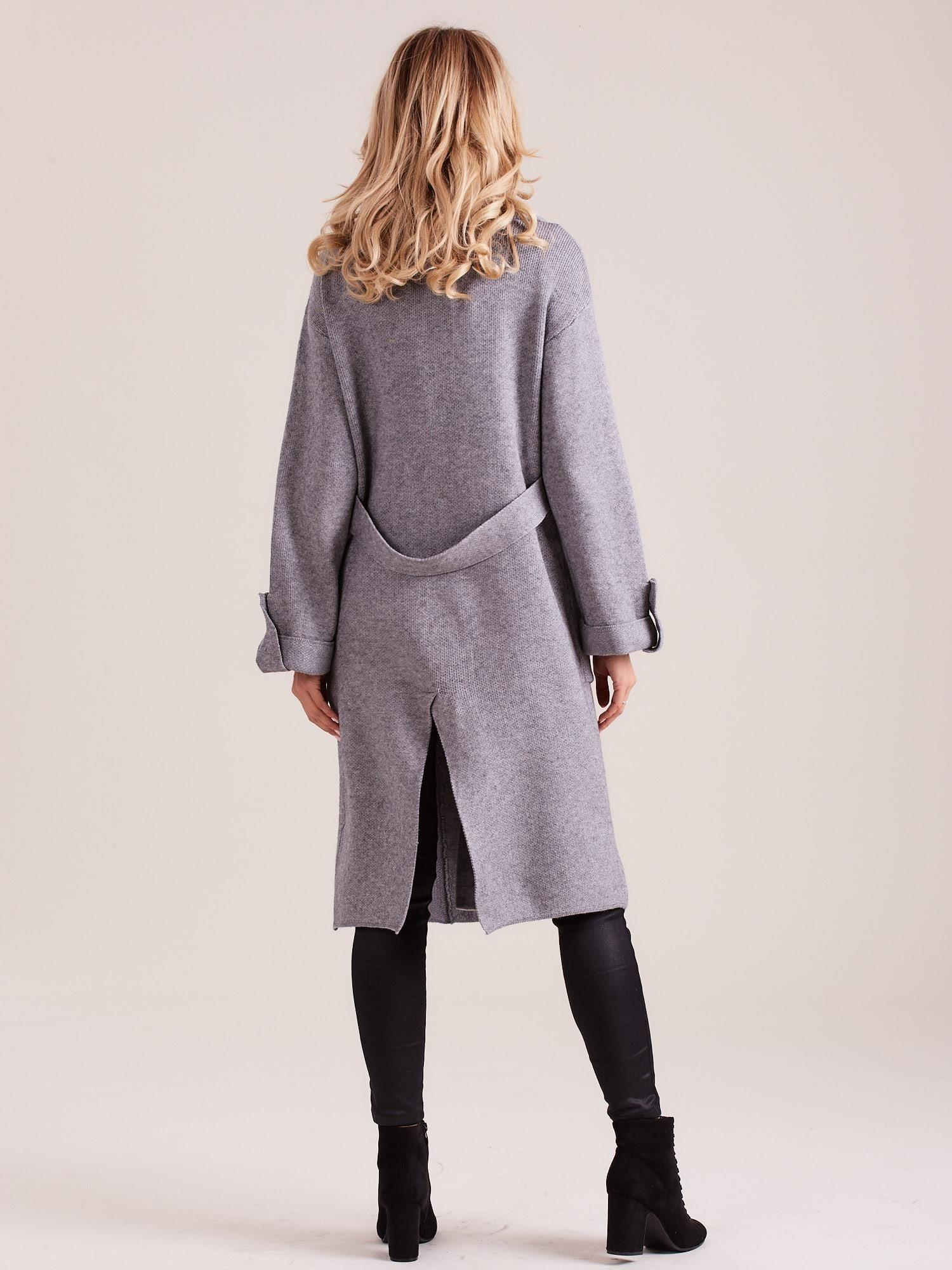 d5330d8e Długi szary sweter damski