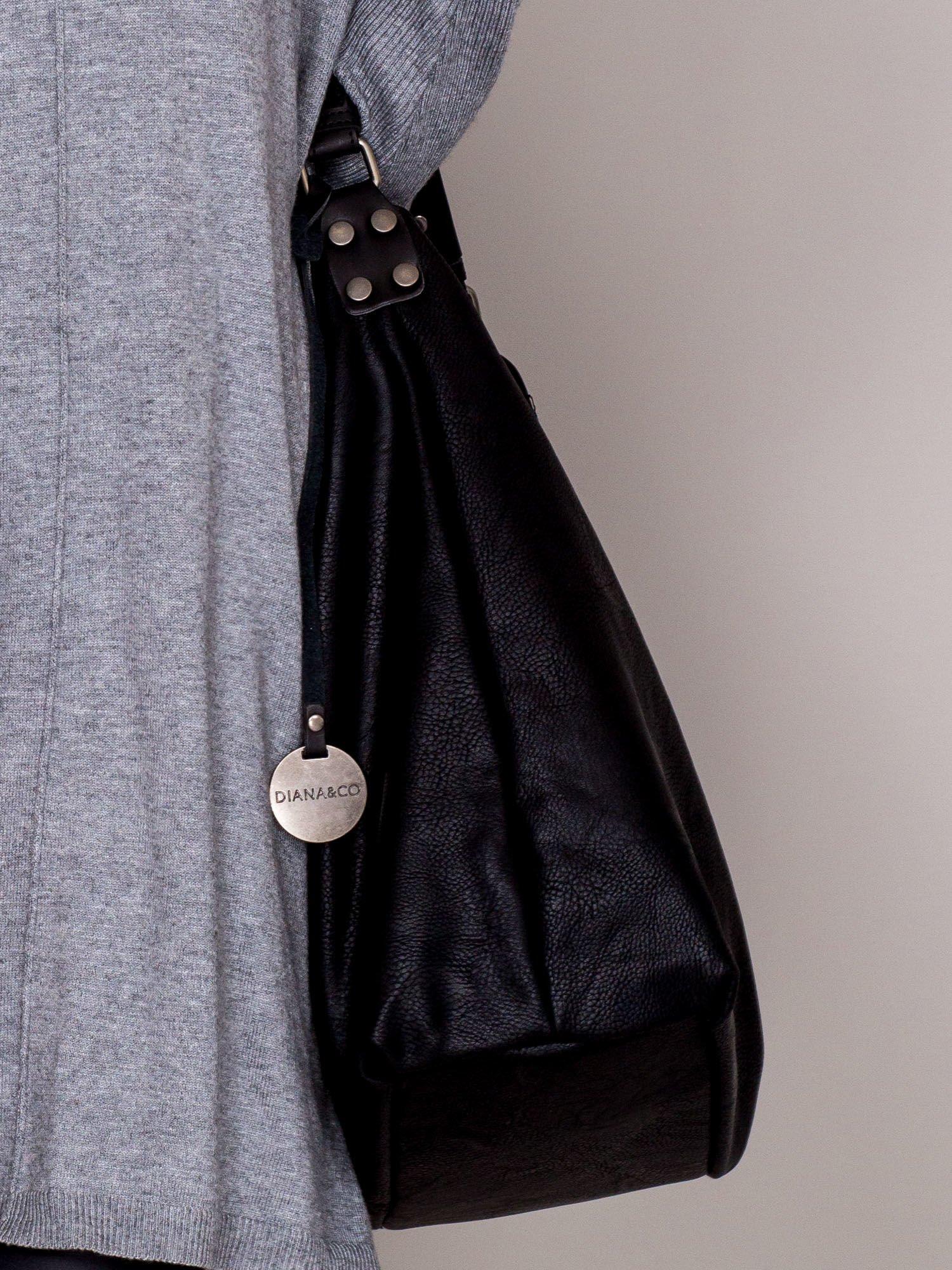 3e2bbf4f8ac14 Super Duża torba shopper na suwak czarna - Akcesoria torba - sklep  eButik.pl