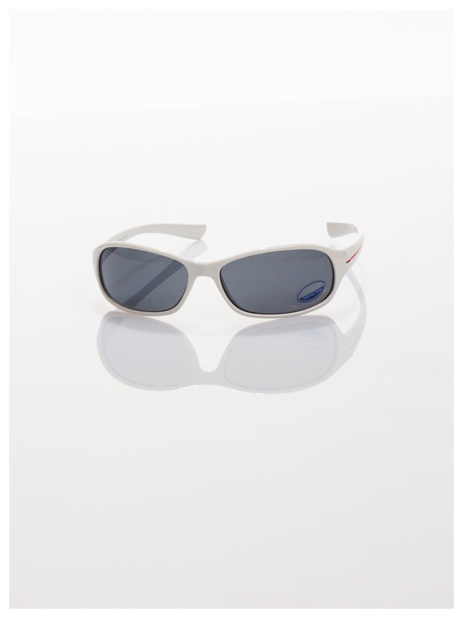 Dziecięce białe okulary przeciwsłoneczne z filtrami                                   zdj.                                  2