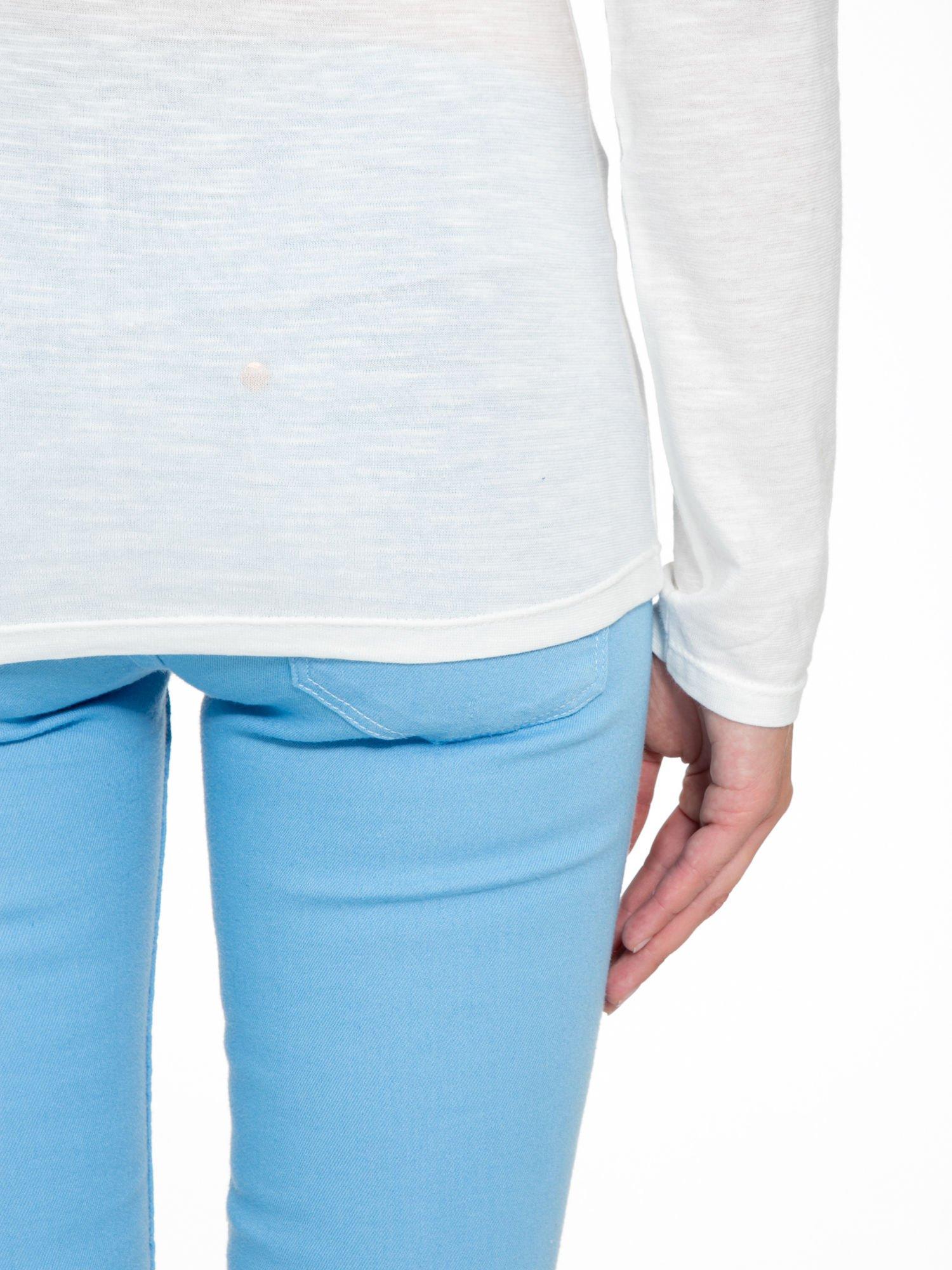 Ecru bluzka z nadrukiem kotka i napisem MEOW                                  zdj.                                  6