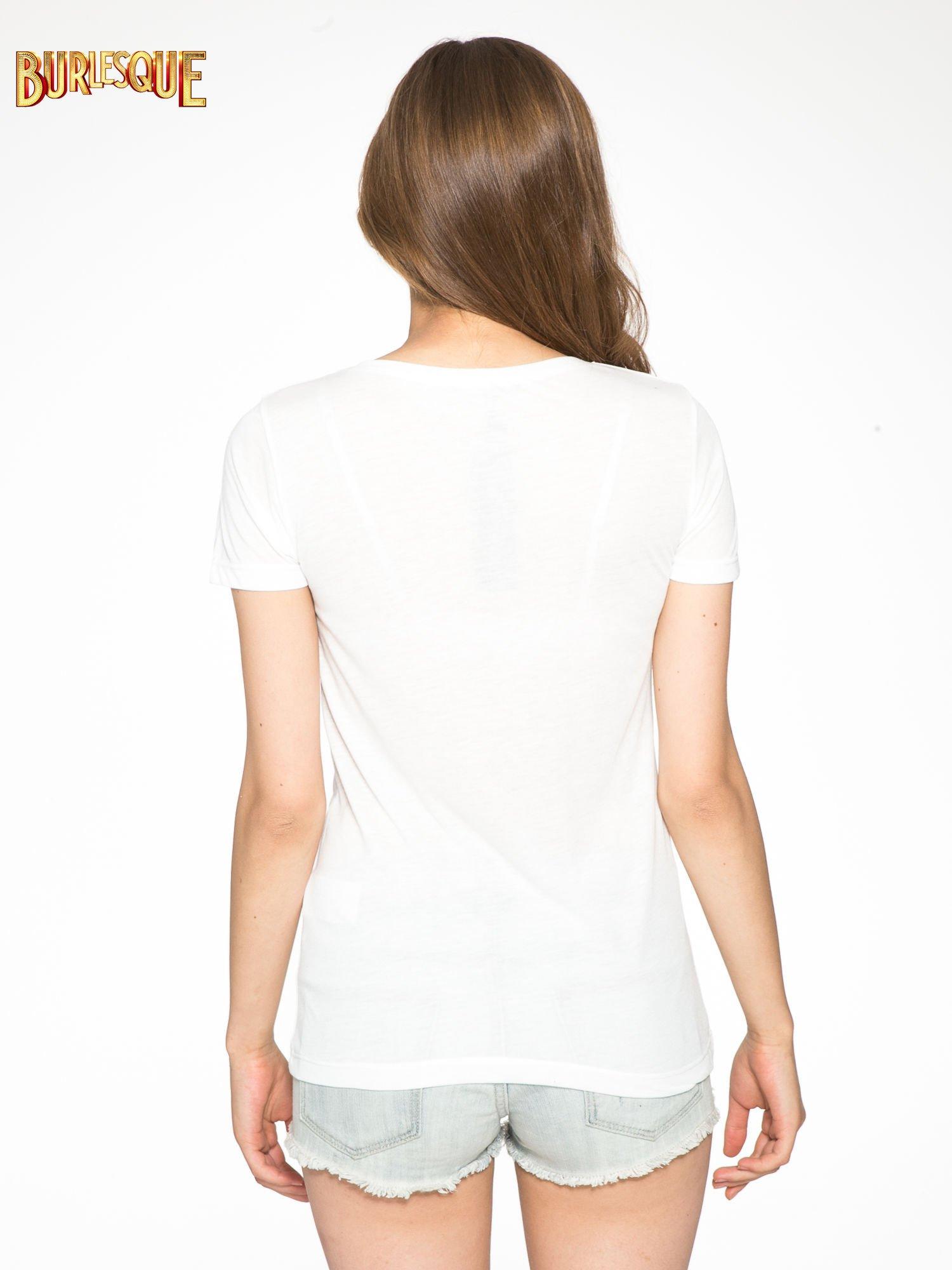 Ecru t-shirt z napisem THE FREAK IS CHIC                                  zdj.                                  4