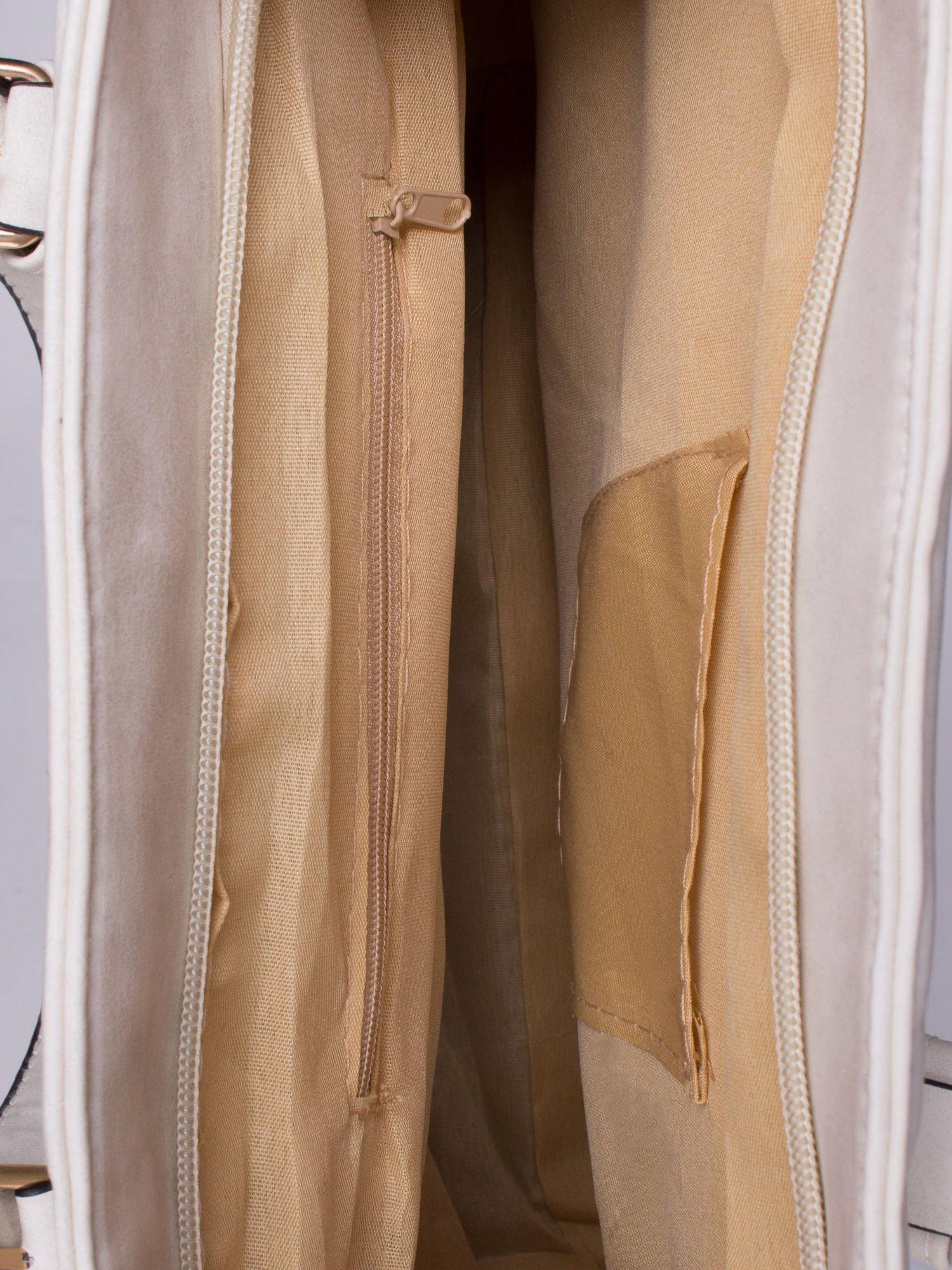 Ecru torba shopper bag z zawieszką                                  zdj.                                  4