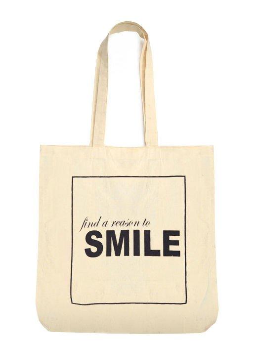 Ekotorba na zakupy z nadrukiem FIND A REASON TO SMILE                                  zdj.                                  1