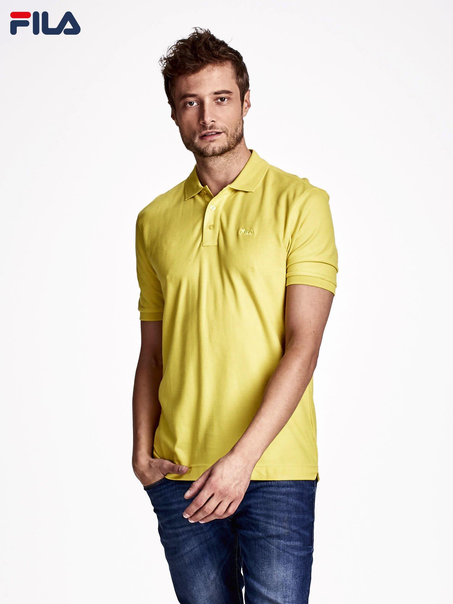 b6e589a95c9c61 FILA Żółta koszulka polo męska - Mężczyźni koszulka polo męskie ...