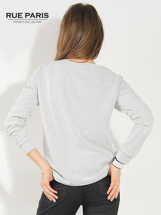 Fakturowana bluza ecru z wstawkami po bokach                                   zdj.                                  2