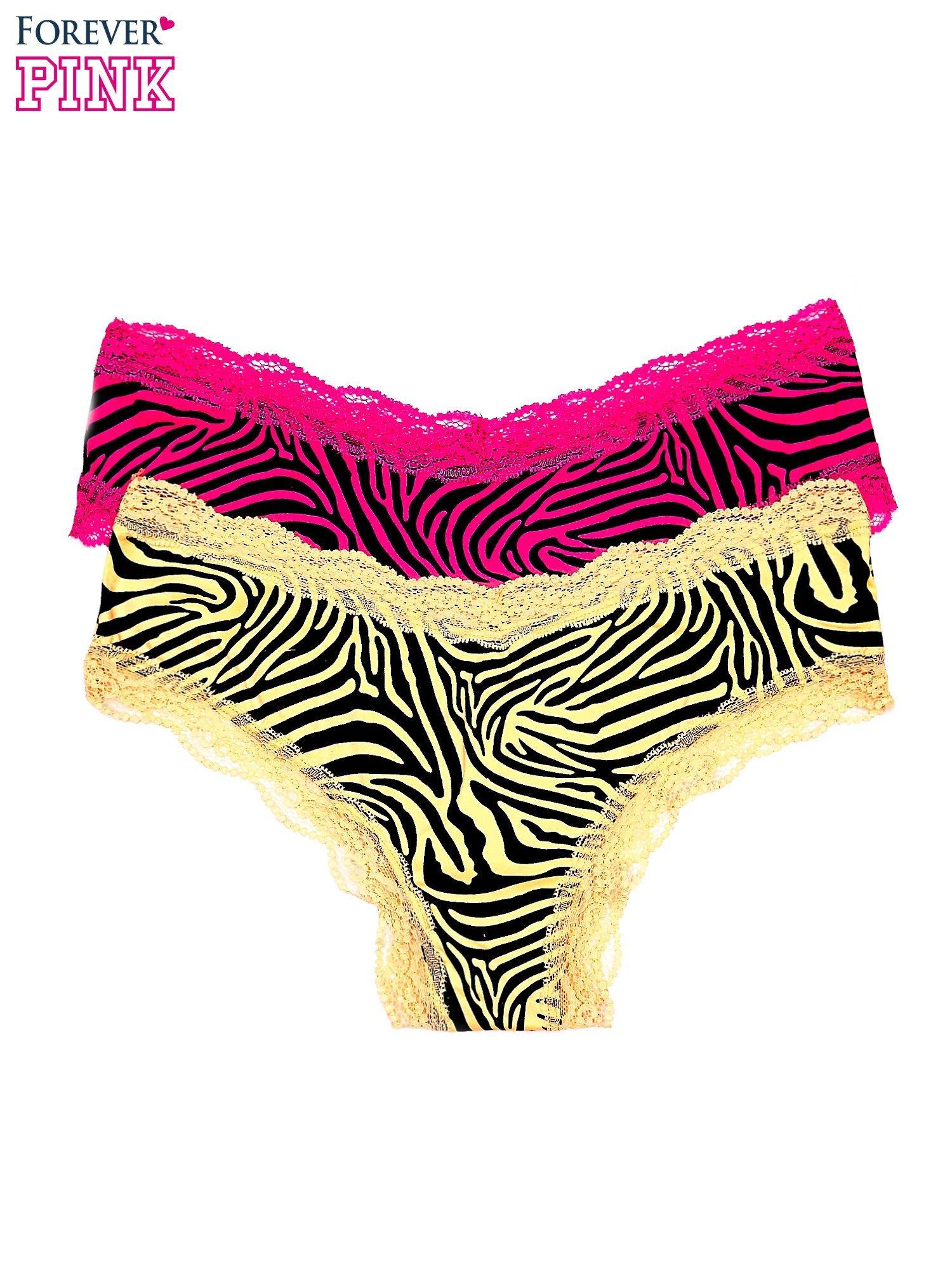 Figi damskie motyw zebry 2 szt.                                   zdj.                                  1