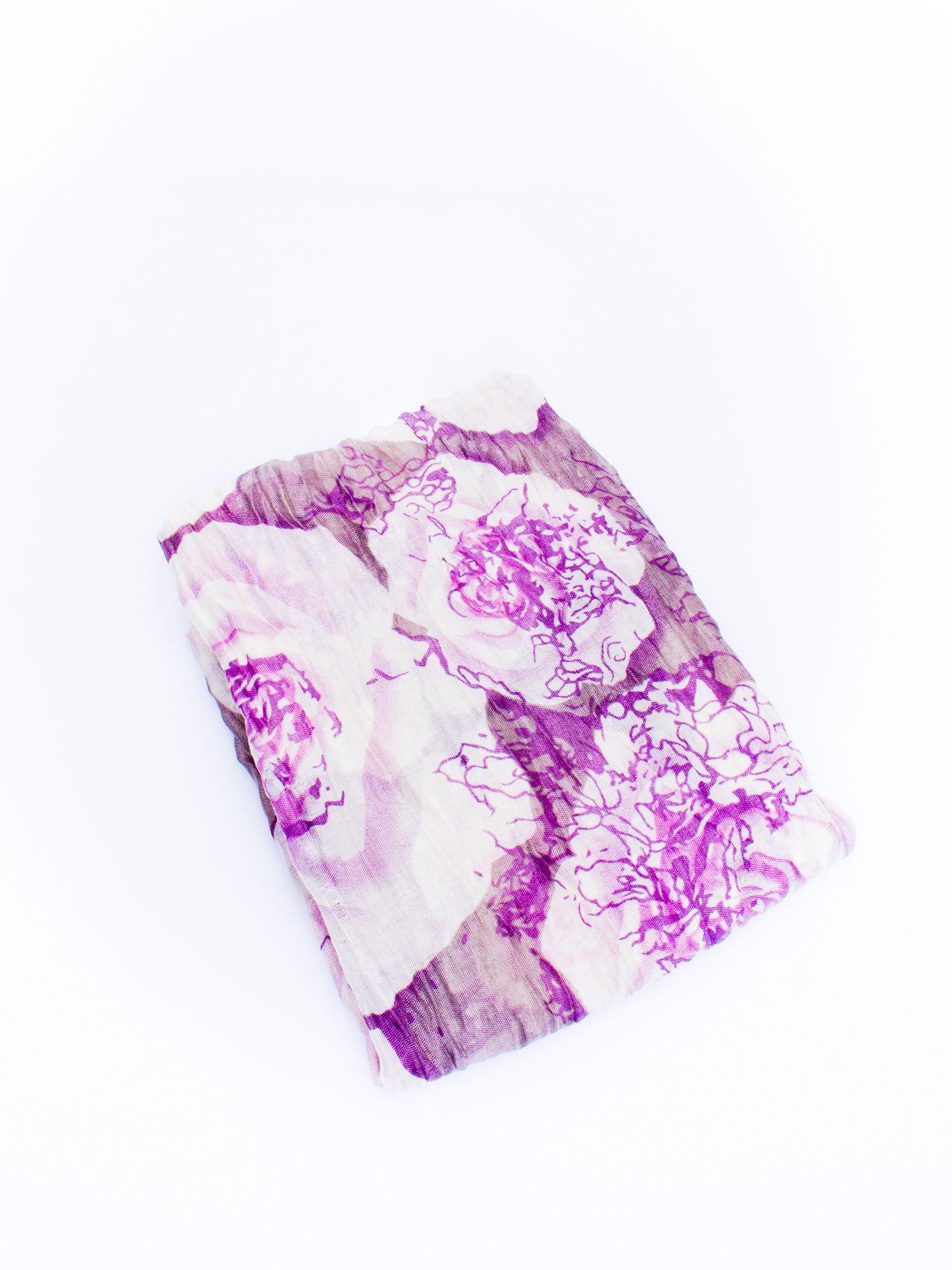 Fioletowa chusta w kwiaty                                  zdj.                                  3