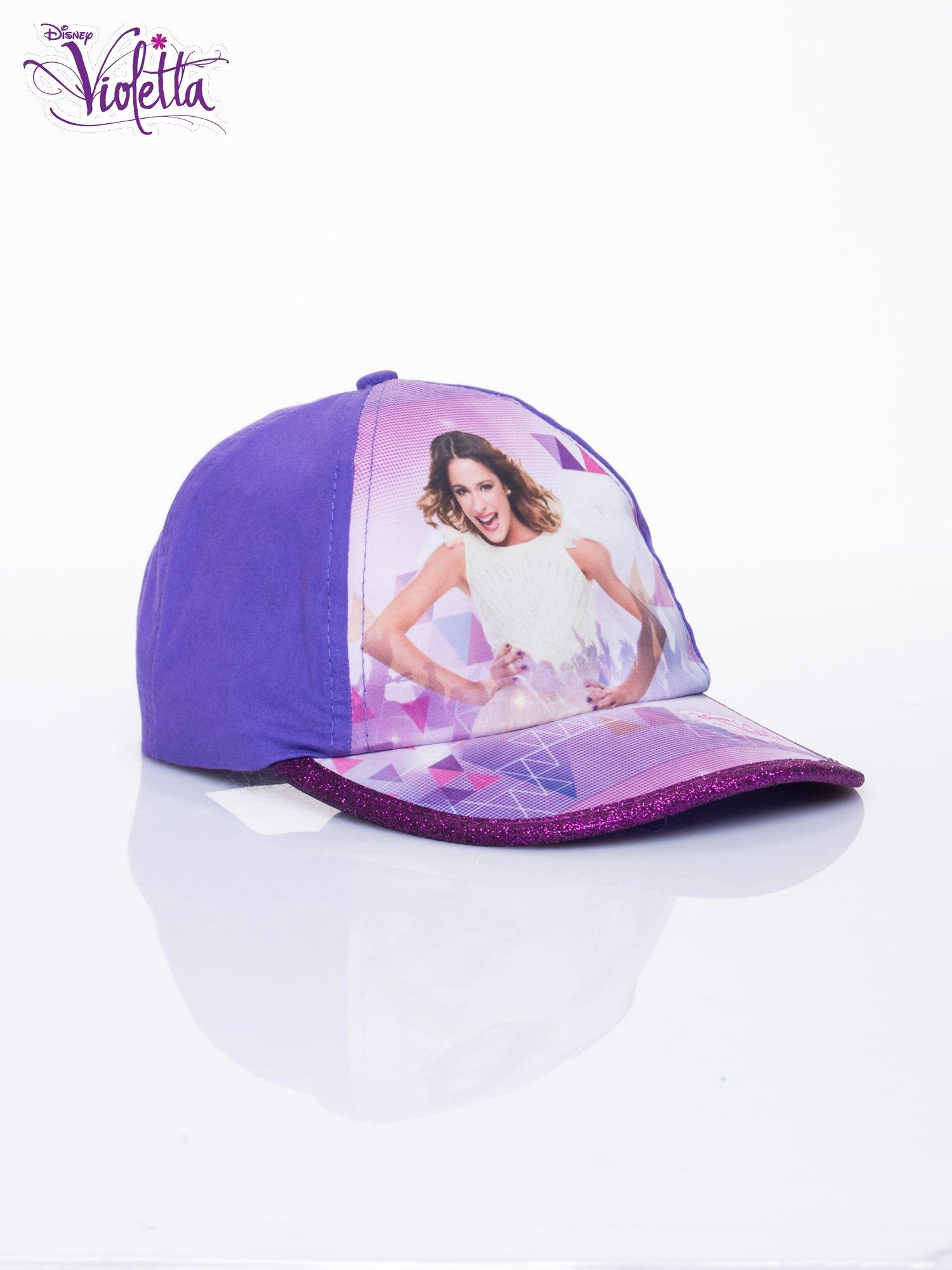 Fioletowa czapka z daszkiem dla dziewczynki VIOLETTA                                  zdj.                                  2