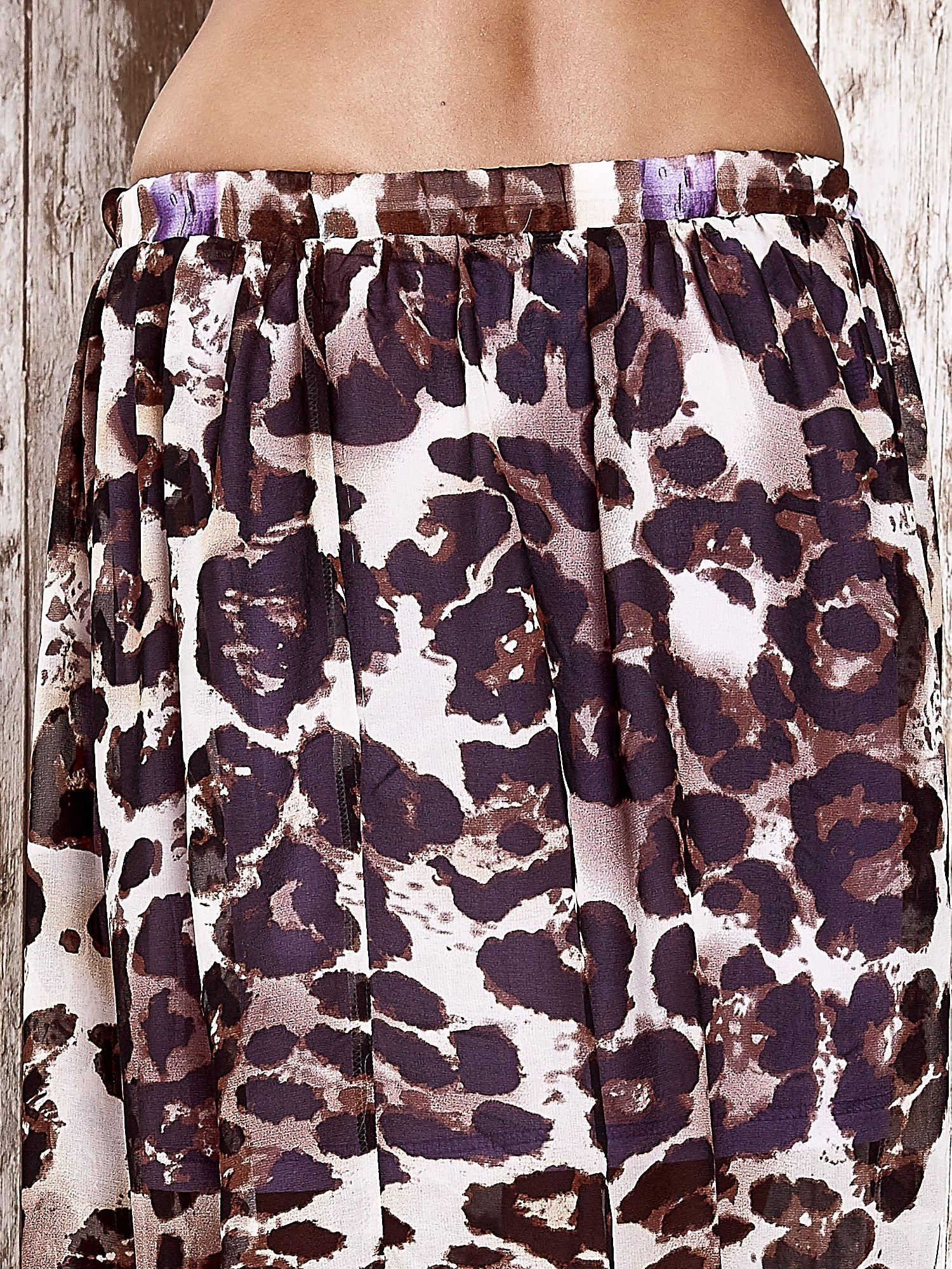Fioletowa spódnica maxi we wzór panterkowokwiatowy                                  zdj.                                  6