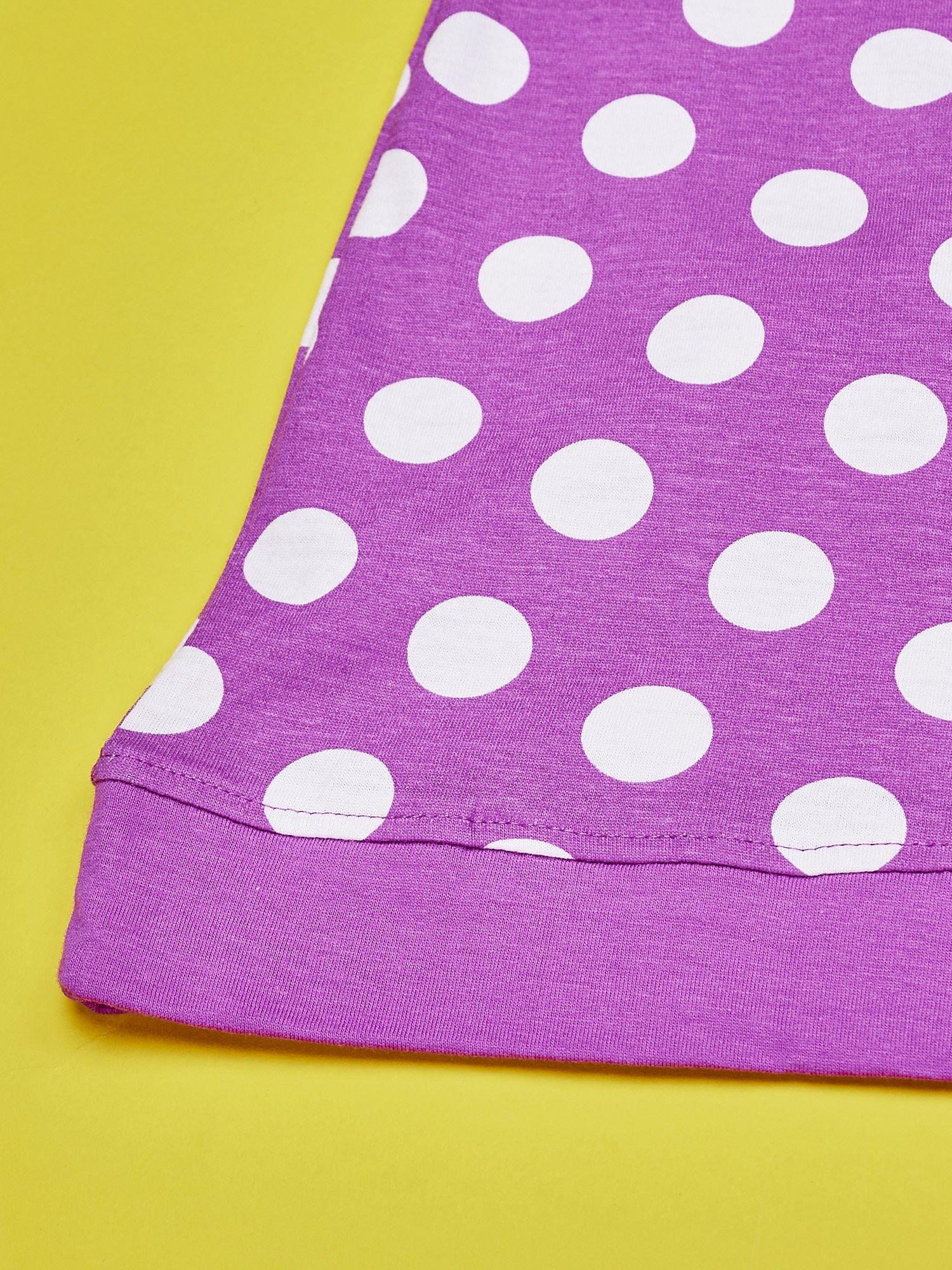 bff8f90b8b Fioletowa sukienka w groszki dla dziewczynki FURBY - Dziecko ...