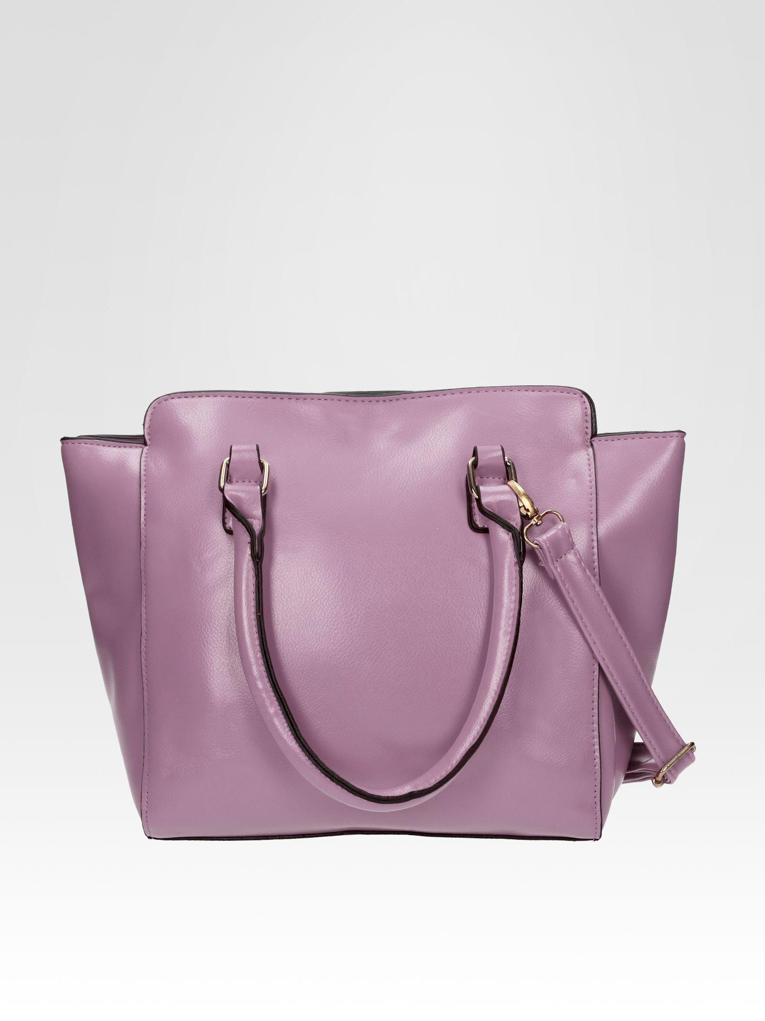 Fioletowa torebka na ramię z dżetami                                  zdj.                                  3