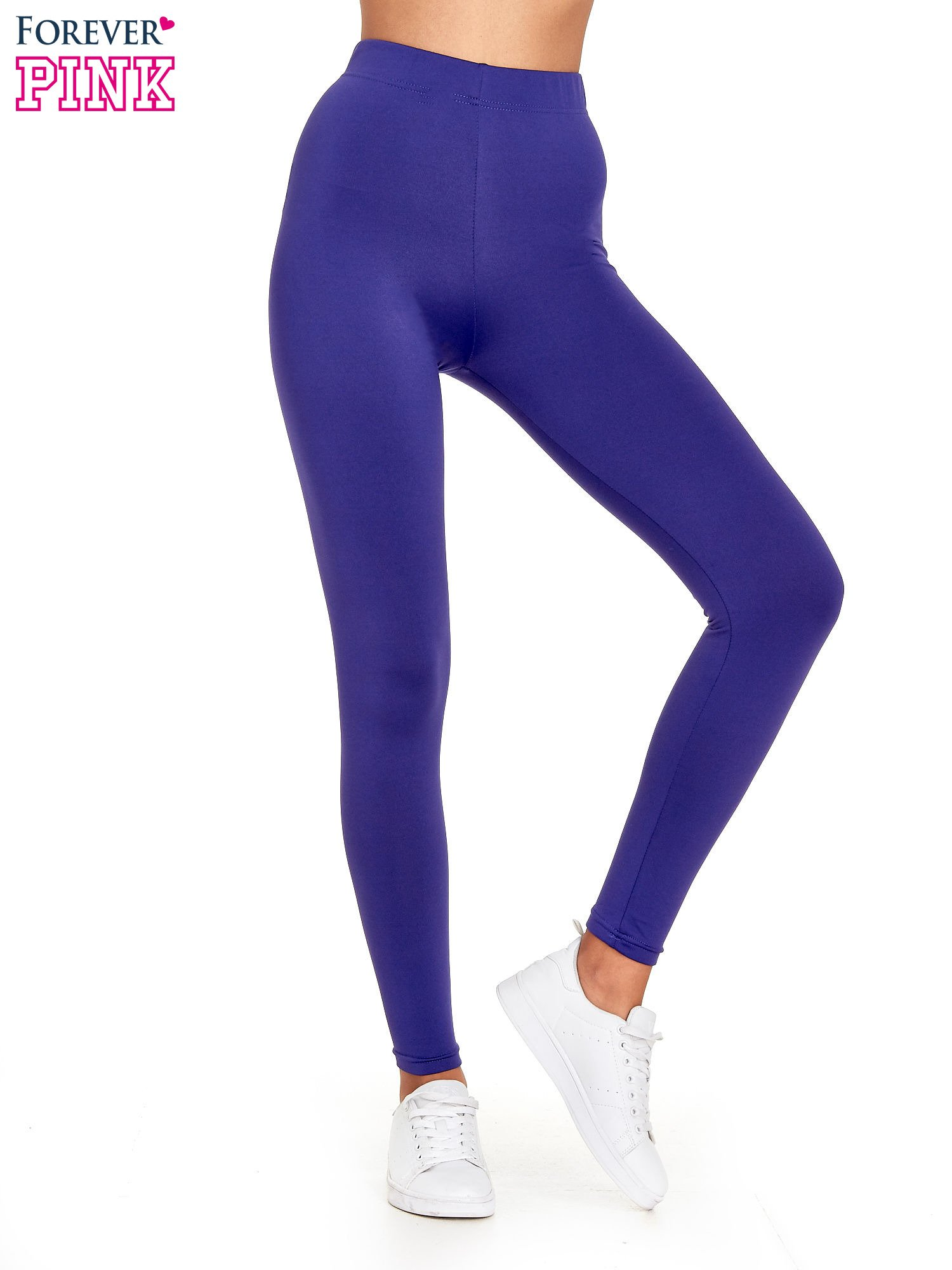 Fioletowe legginsy basic z lekkim ociepleniem                                  zdj.                                  1