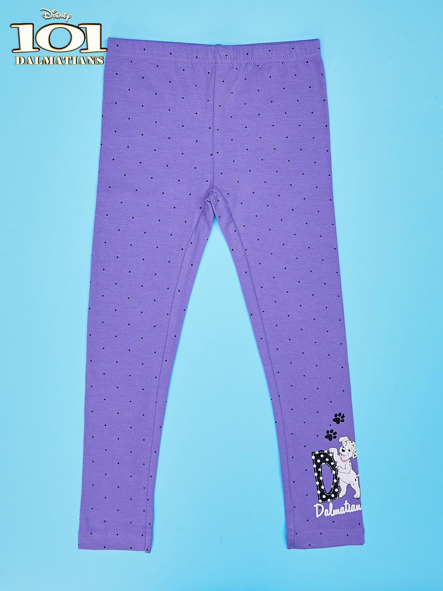 Fioletowe legginsy w kropki dla dziewczynki 101 DALMATYŃCZYKÓW                                  zdj.                                  1