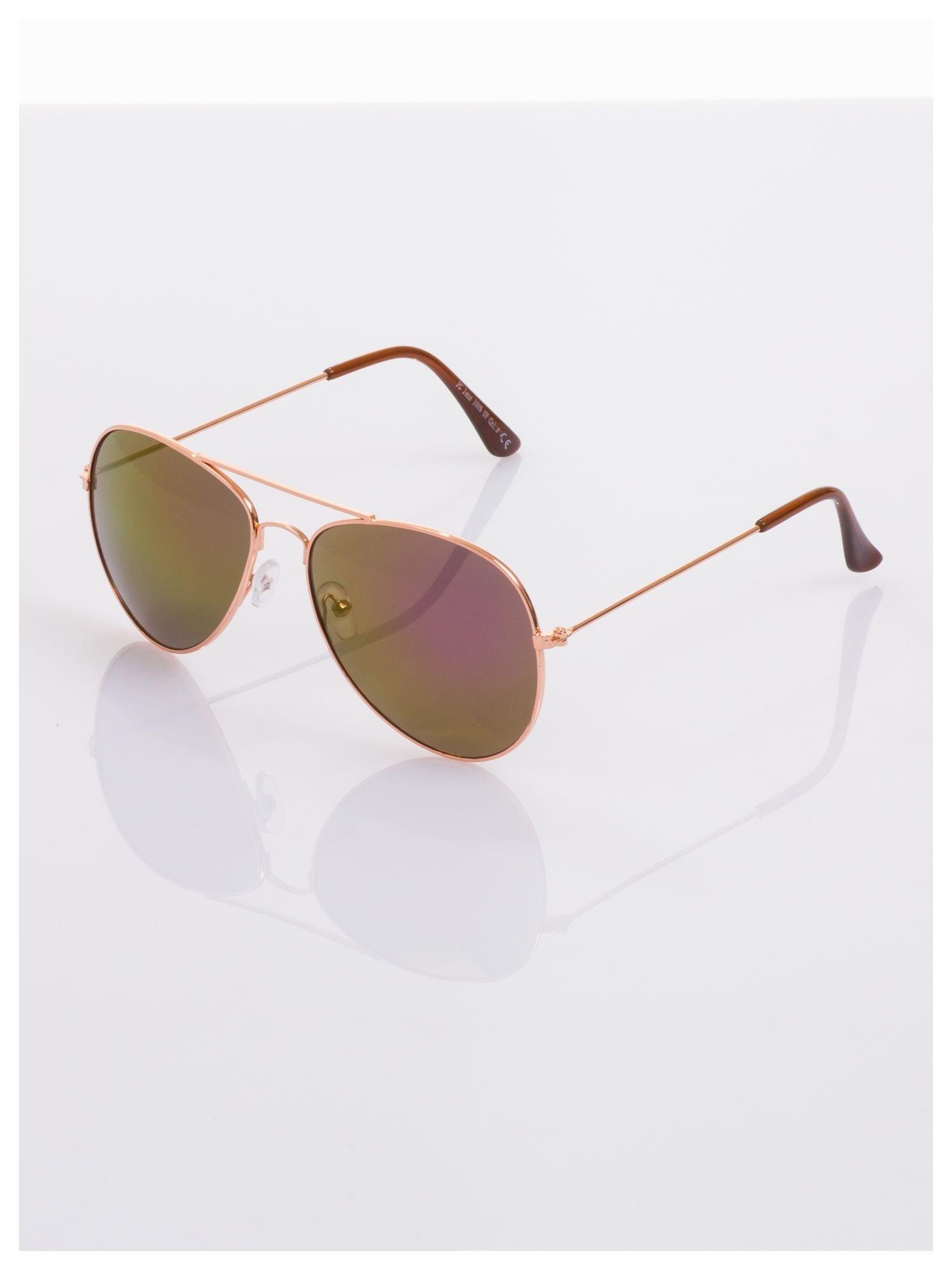 Fioletowe okulary przeciwsłoneczne pilotki AVIATORY                                  zdj.                                  3