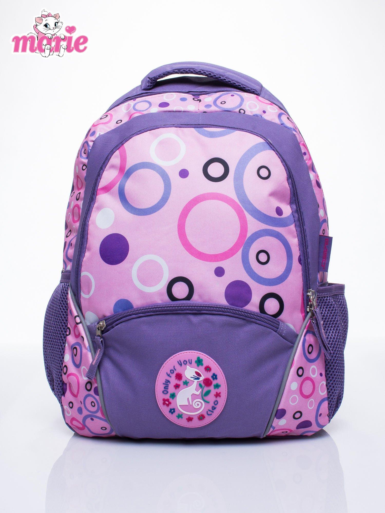 Fioletowy plecak szkolny DISNEY kotka Marie                                  zdj.                                  1