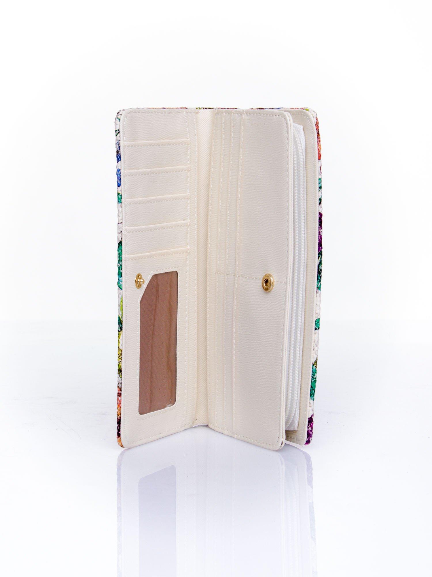 Fioletowy portfel z egzotycznym nadrukiem                                  zdj.                                  5