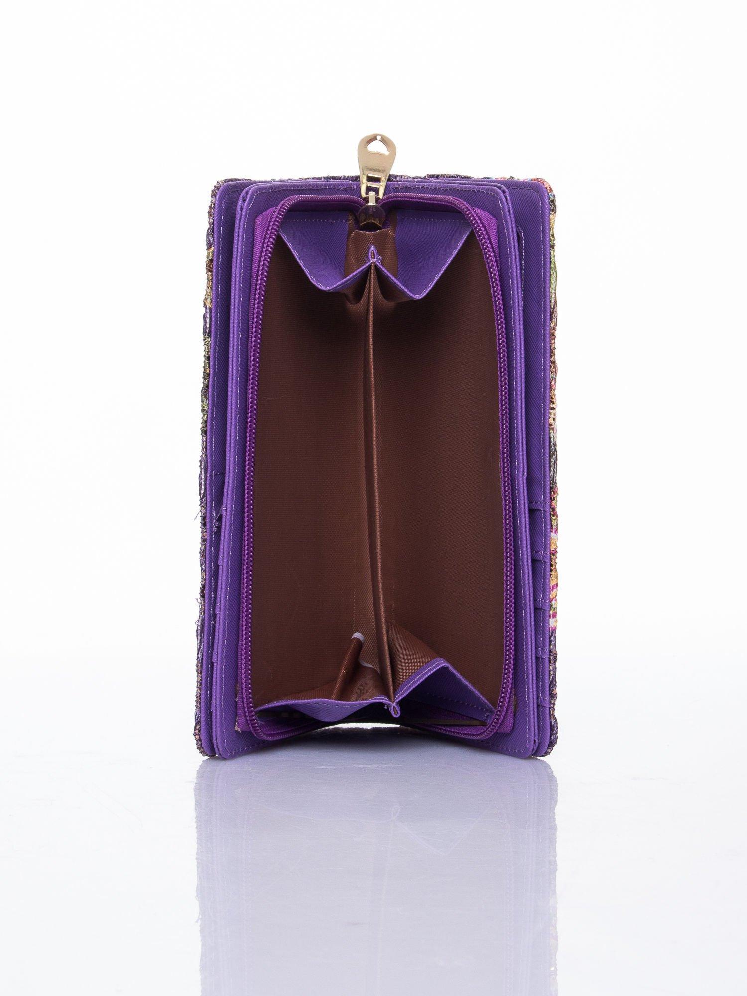 Fioletowy portfel z nadrukiem paisley                                  zdj.                                  6