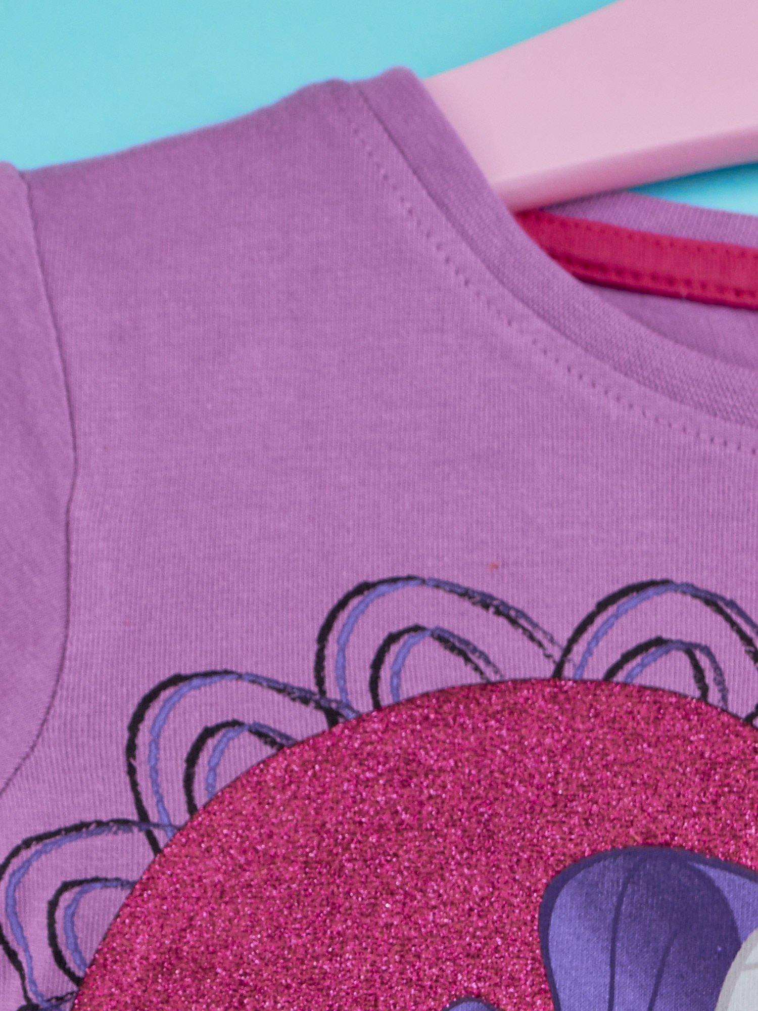 Fioletowy t-shirt dla dziewczynki MY LITTLE PONY                                  zdj.                                  3