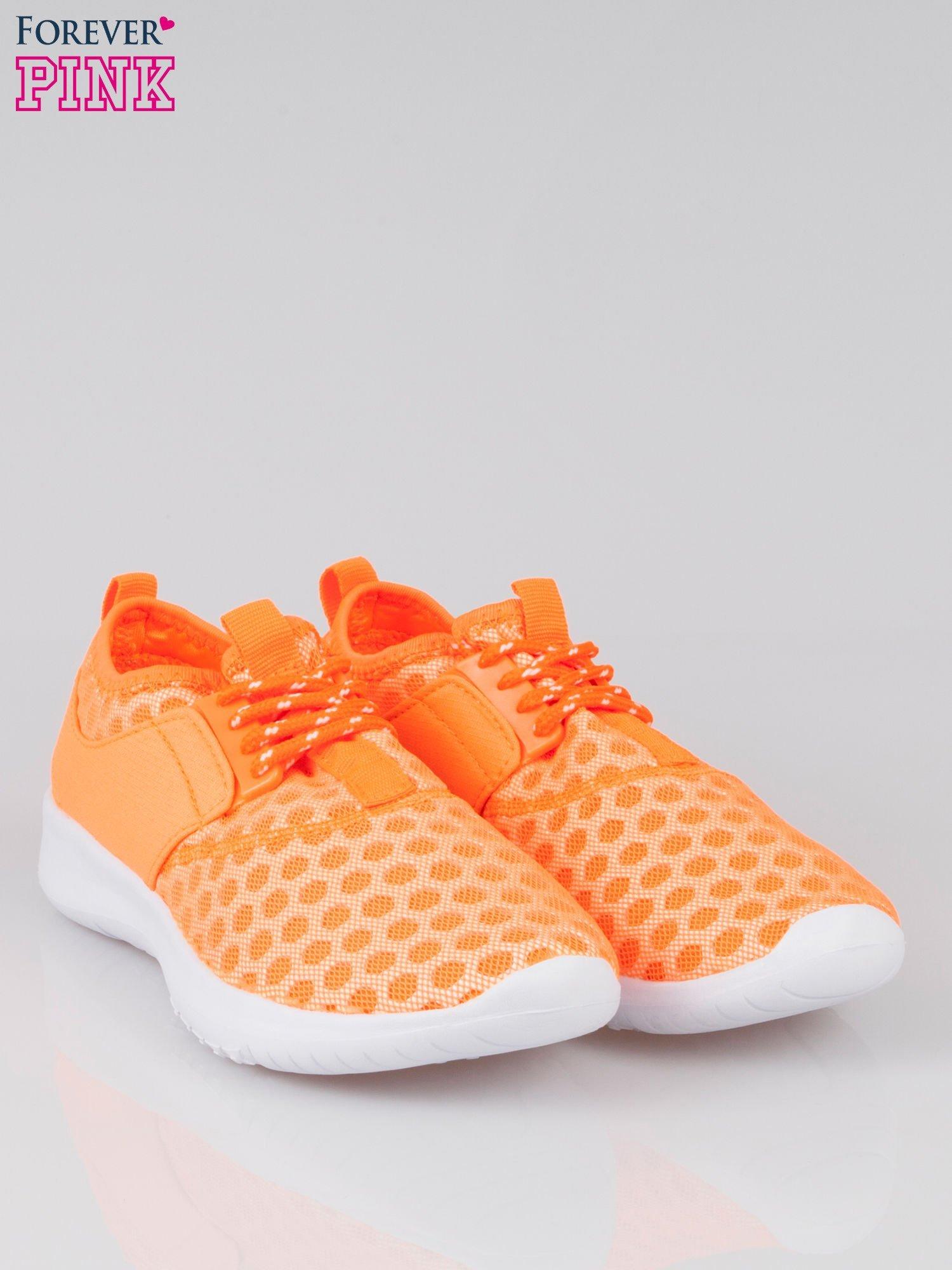 Fluopomarańczowe buty sportowe textile Drive Me Crazy z siateczki na podeszwie flex                                  zdj.                                  2