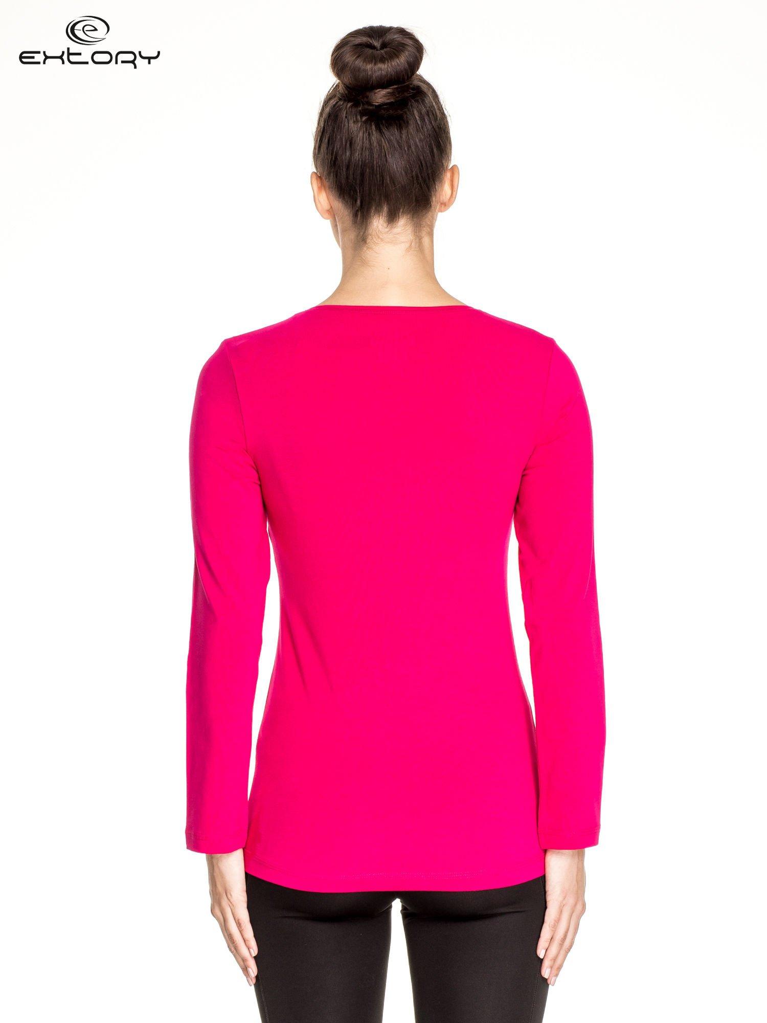 Fuksjowa bluzka sportowa basic PLUS SIZE                                  zdj.                                  4