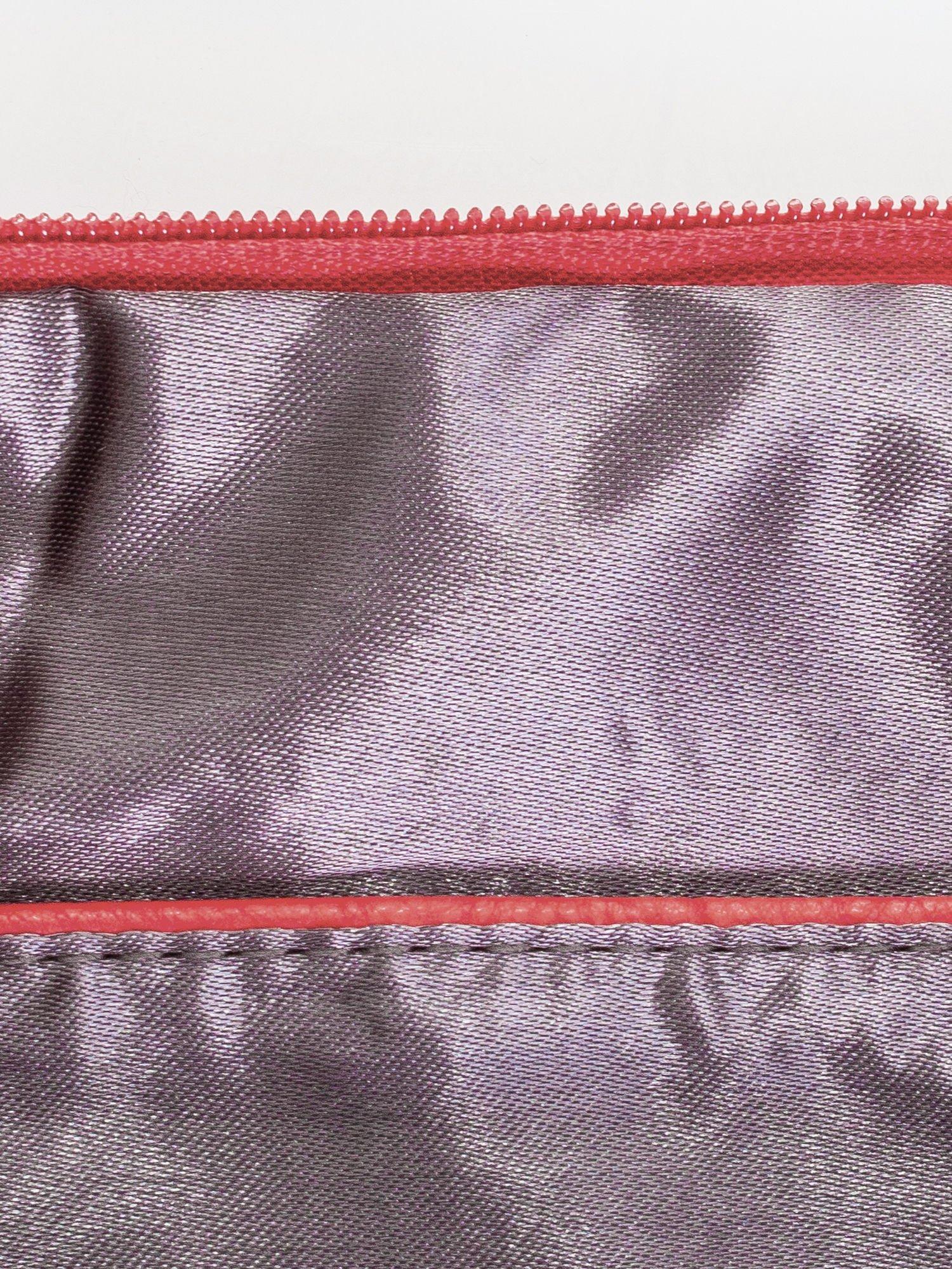 Fuksjowa kopertówka z dżetami motyw ust                                  zdj.                                  7