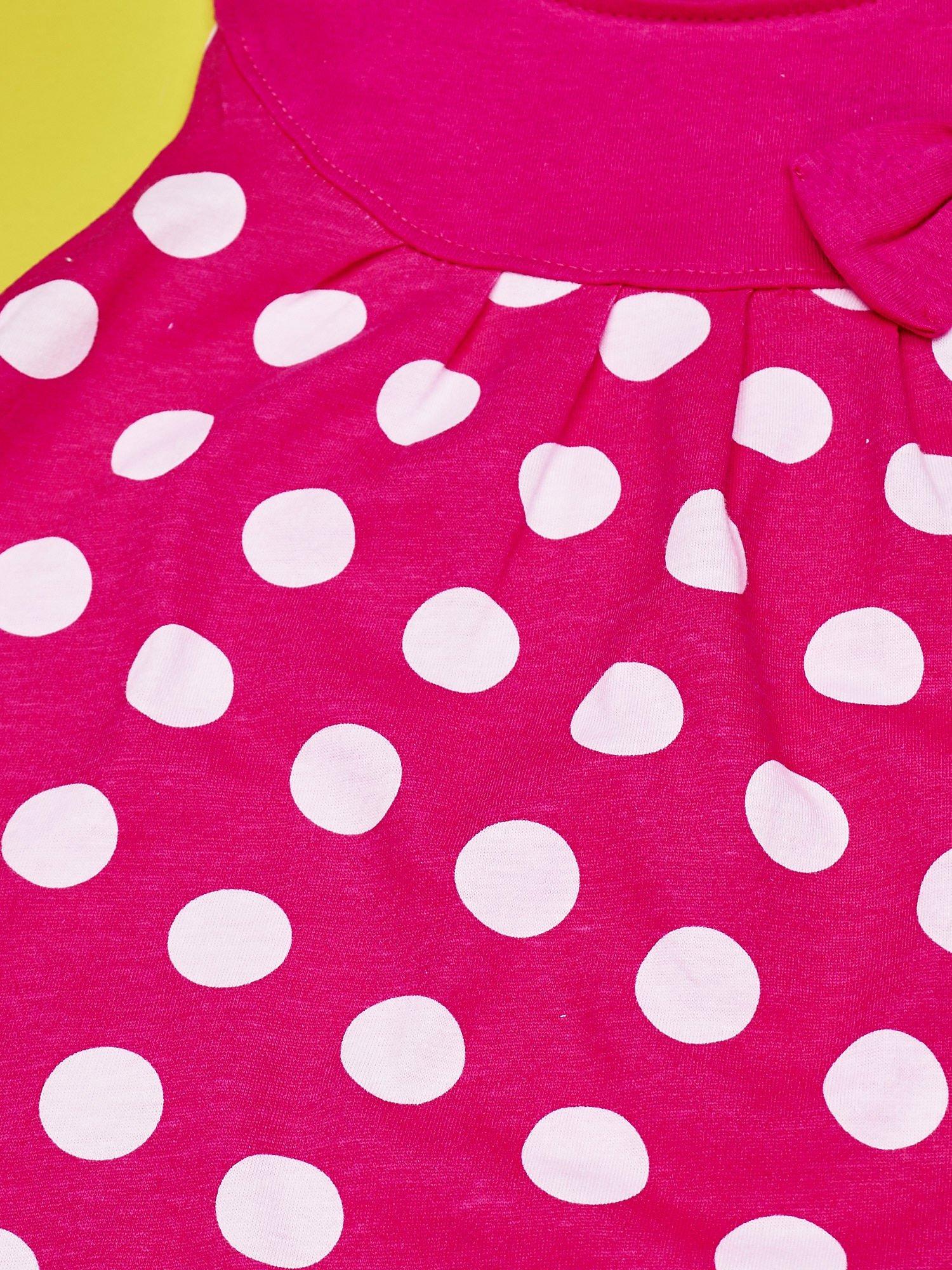 Fuksjowa sukienka w groszki dla dziewczynki FURBY                                  zdj.                                  6