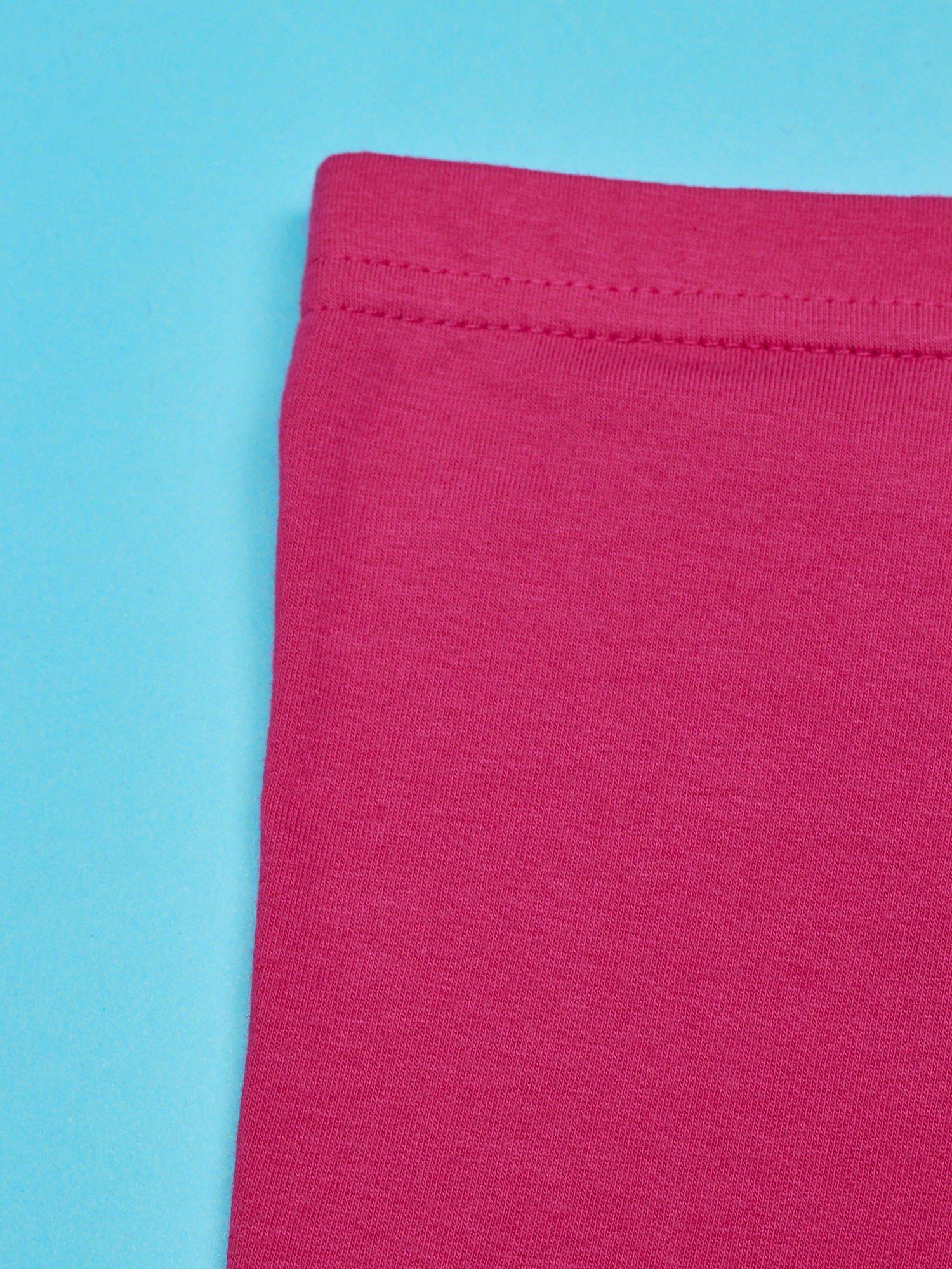 Fuksjowe legginsy dla dziewczynki nadruk FURBY                                  zdj.                                  3
