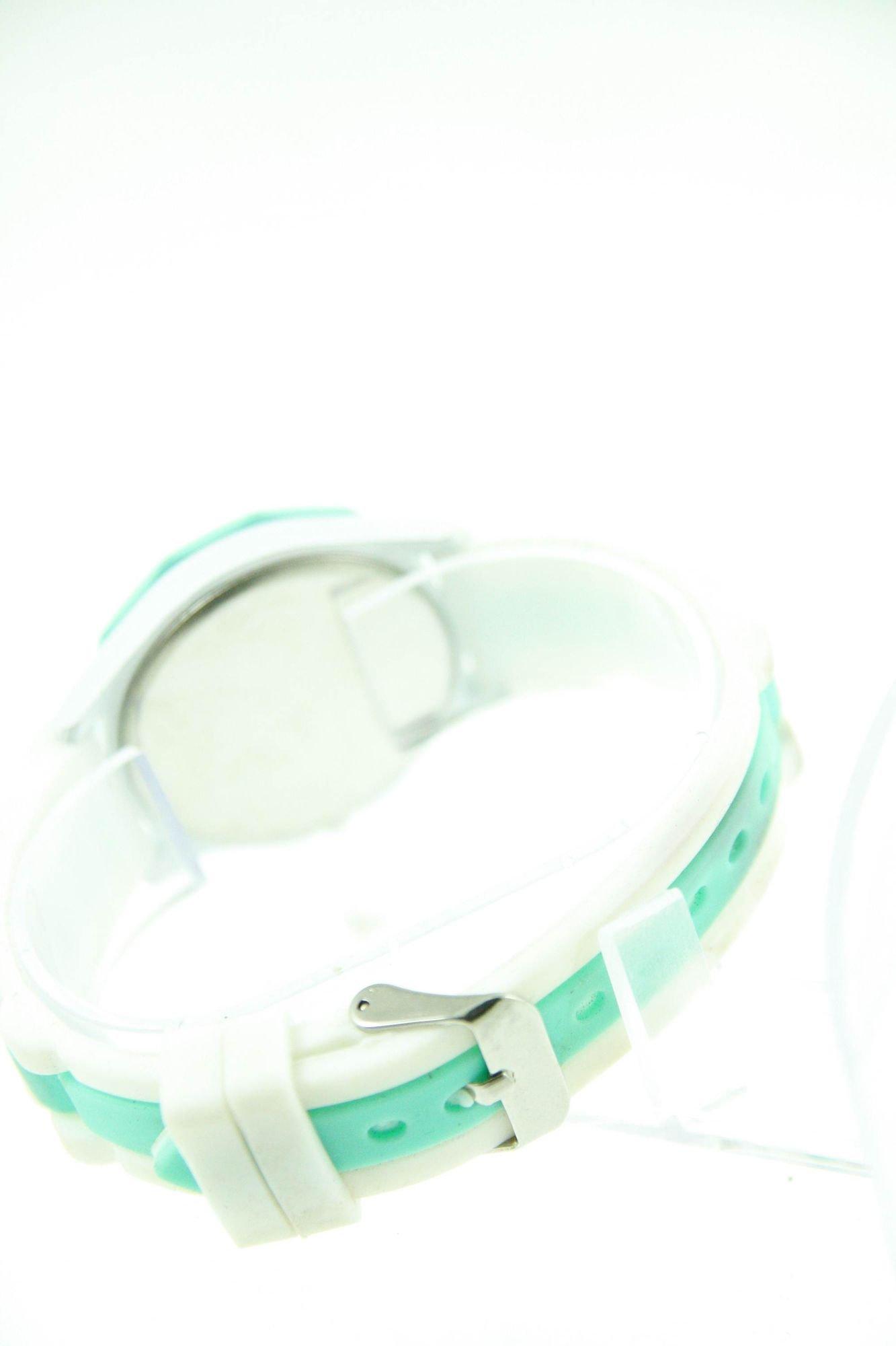 GENEVA Miętowo-biały zegarek damski na silikonowym pasku                                  zdj.                                  3