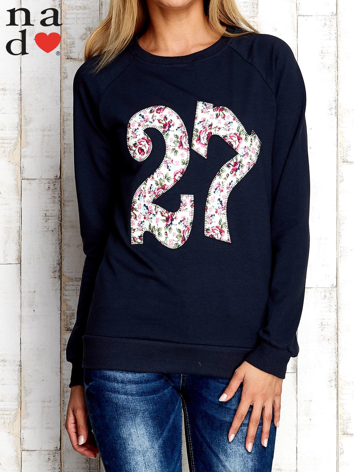 Grafitowa bluza z cyfrą 27                                  zdj.                                  1