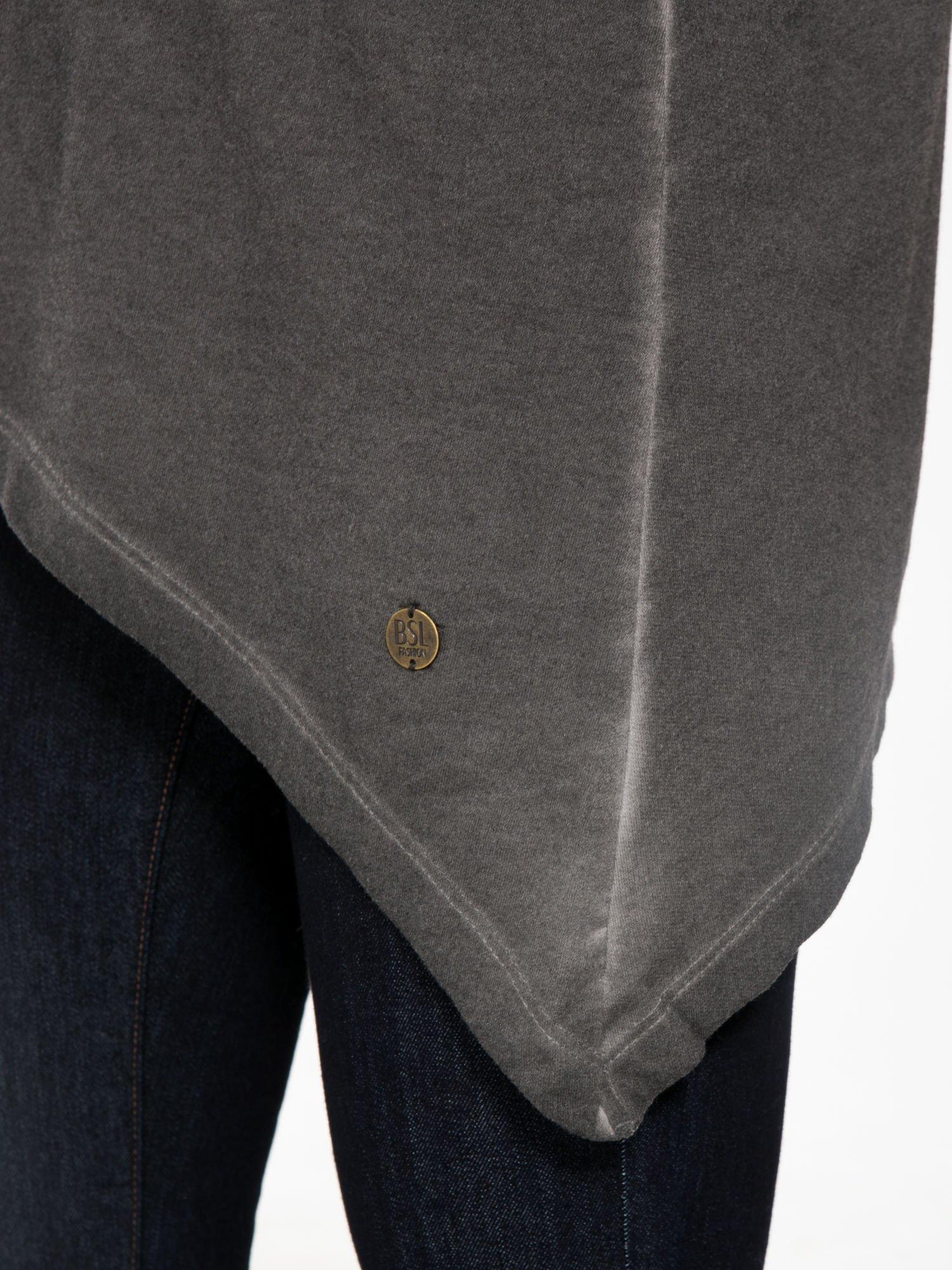 Grafitowa bluza z koronkową wstawką na plecach                                  zdj.                                  8