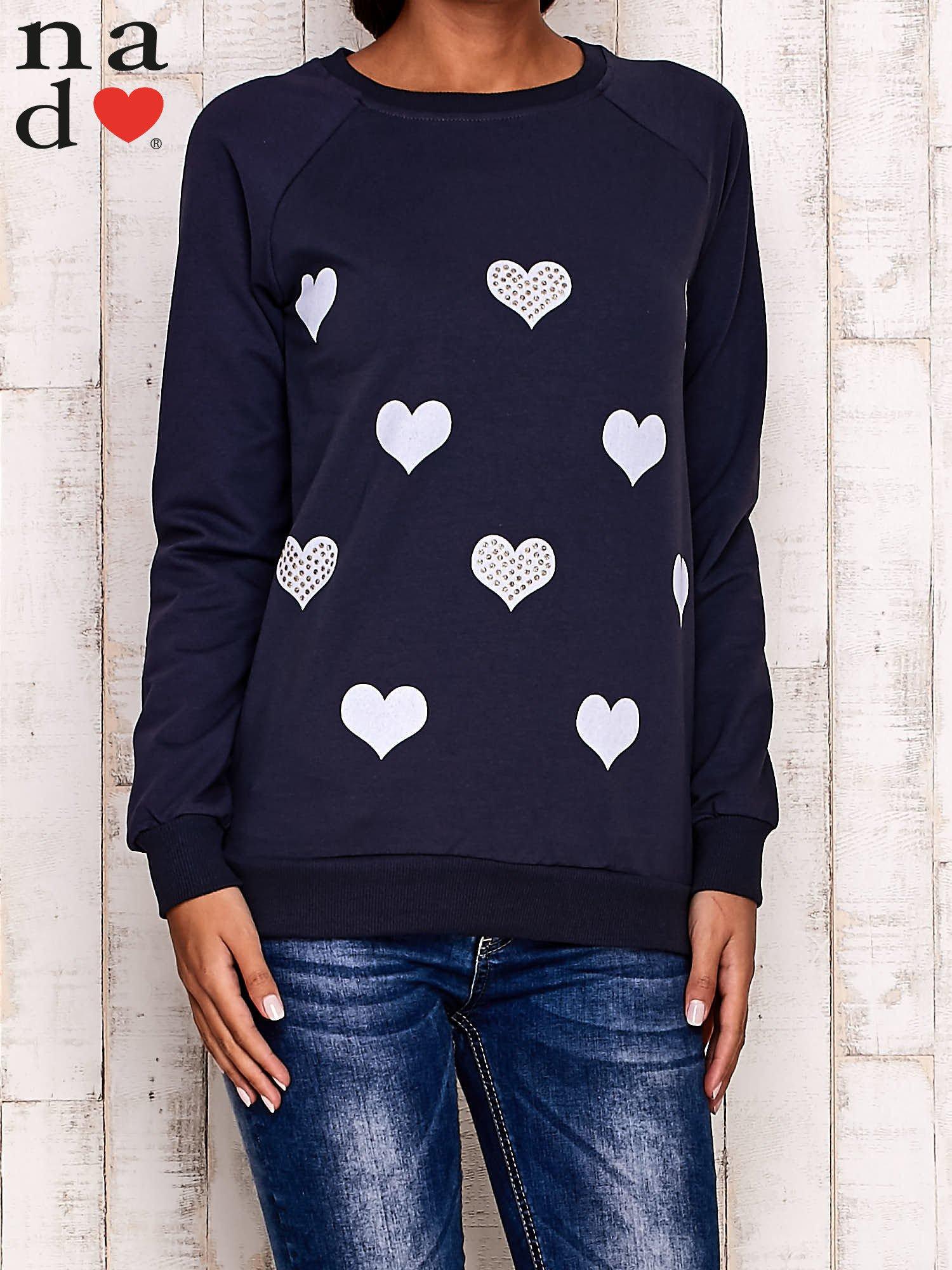 Grafitowa bluza z serduszkami                                  zdj.                                  1