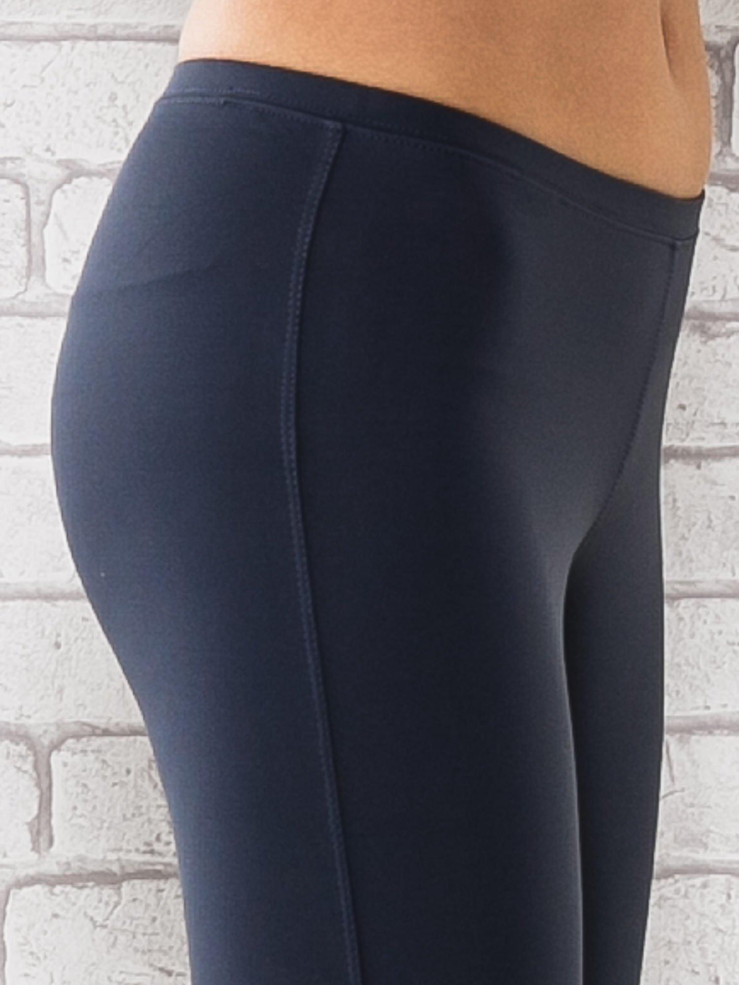 Grafitowe legginsy sportowe termalne z dżetami na nogawkach                                  zdj.                                  5