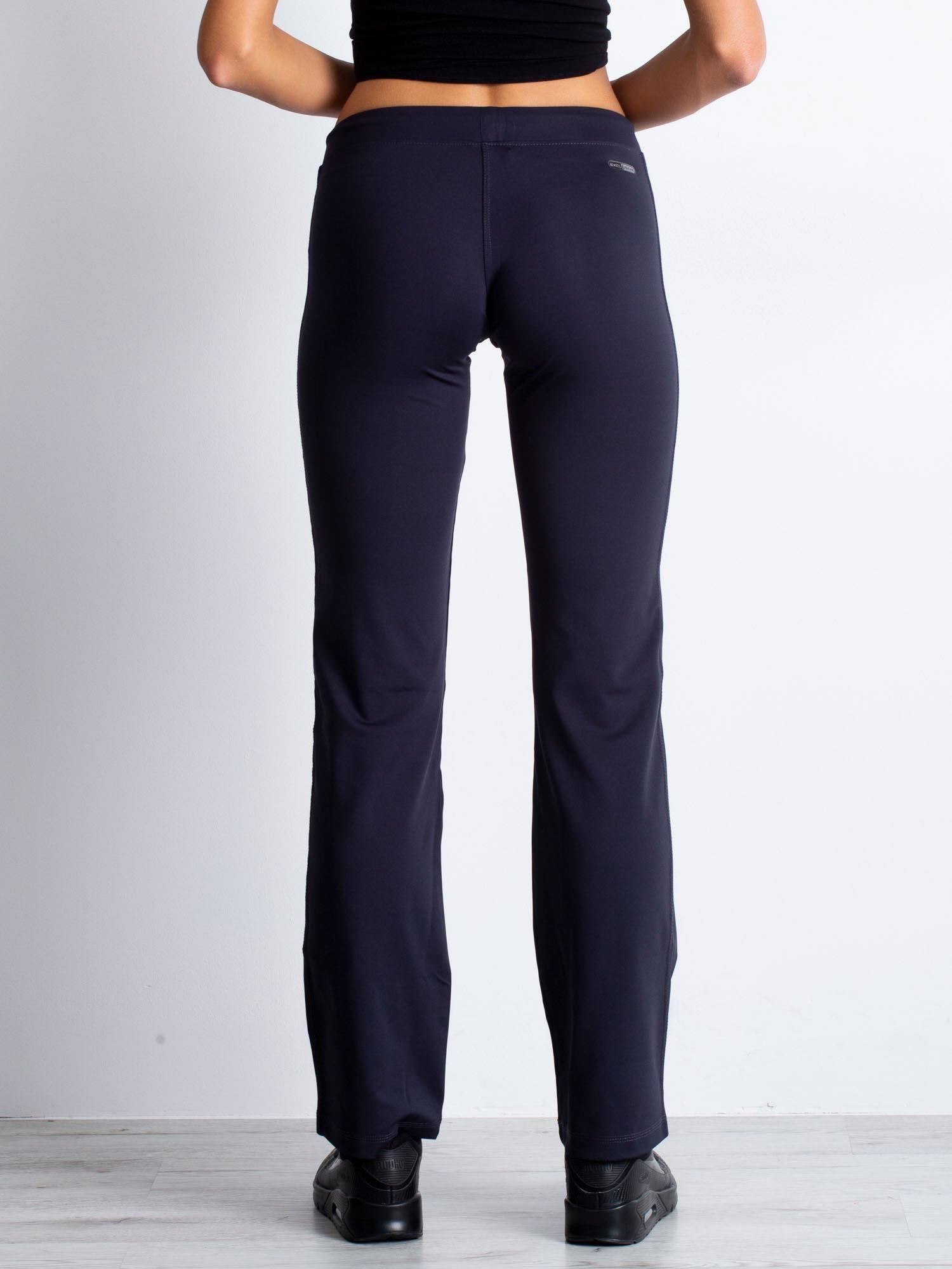 Grafitowe spodnie dresowe z kieszonkami i dżetami                                  zdj.                                  2