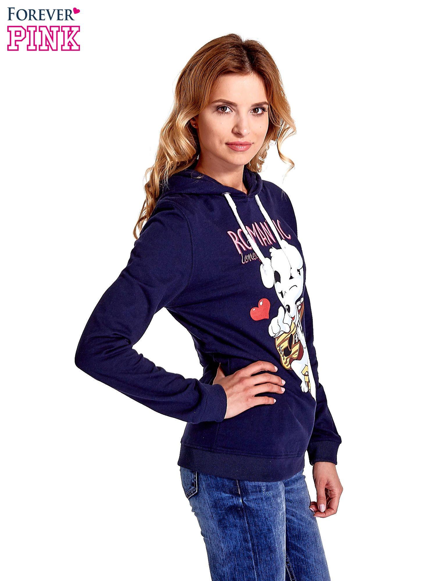 Granatowa bluza z nadrukiem psa                                  zdj.                                  3