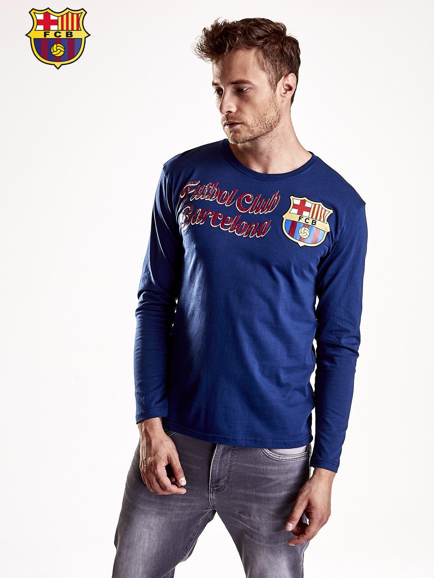 Granatowa bluzka męska FC BARCELONA