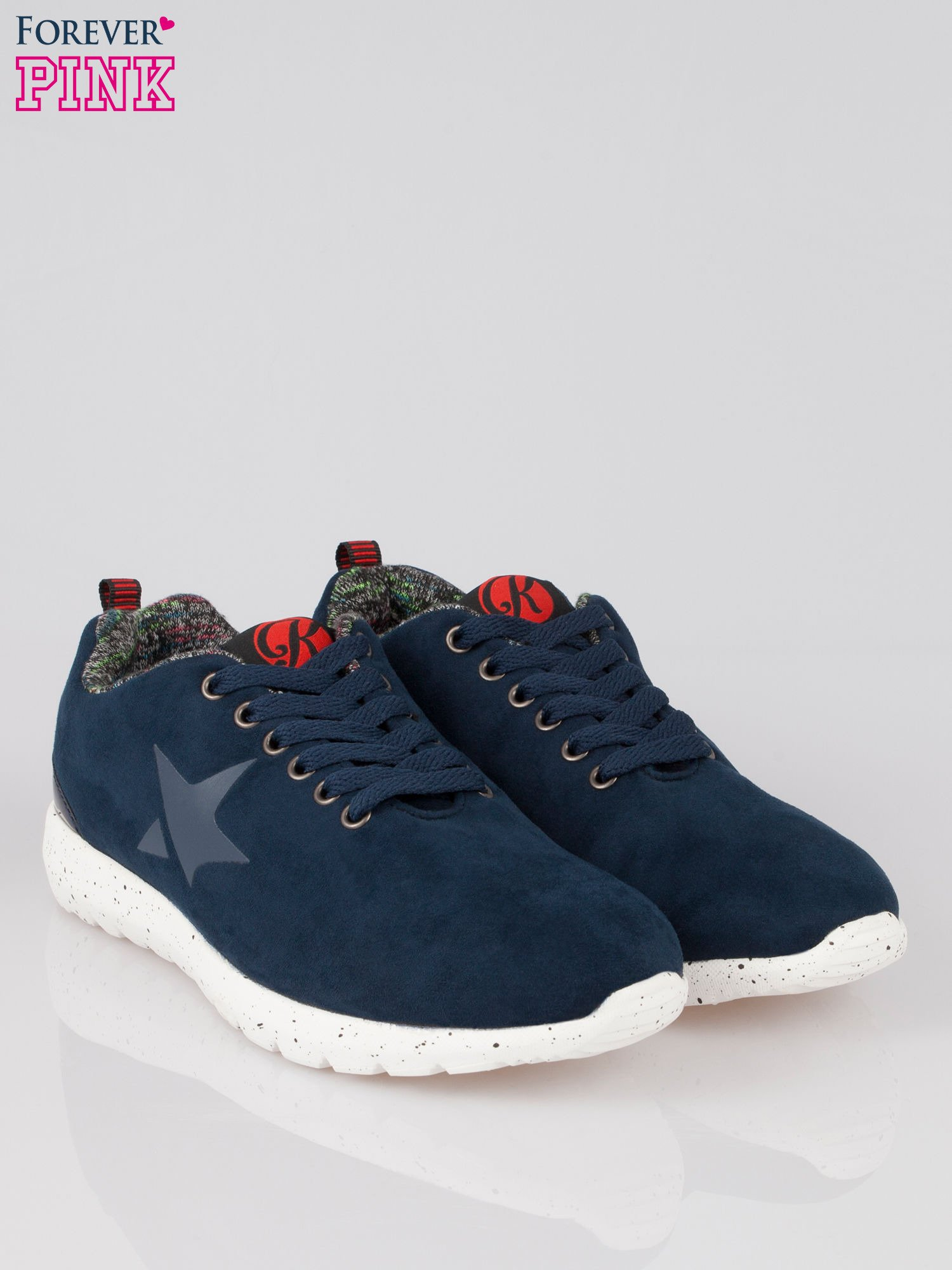 Bordowe buty sportowe faux suede Hollywood z zamszu