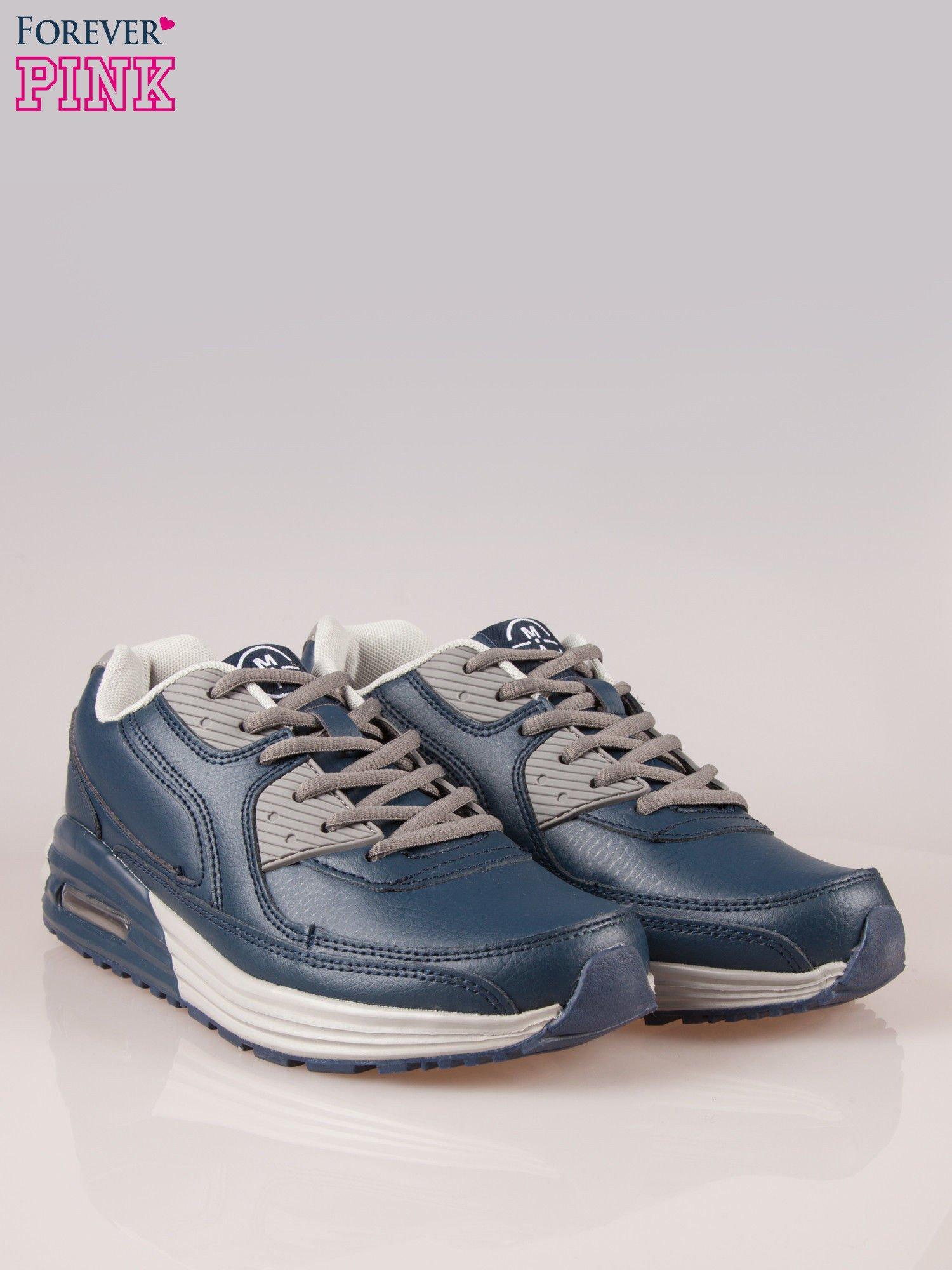Granatowe buty sportowe z poduszką powietrzną w podeszwie                                  zdj.                                  2