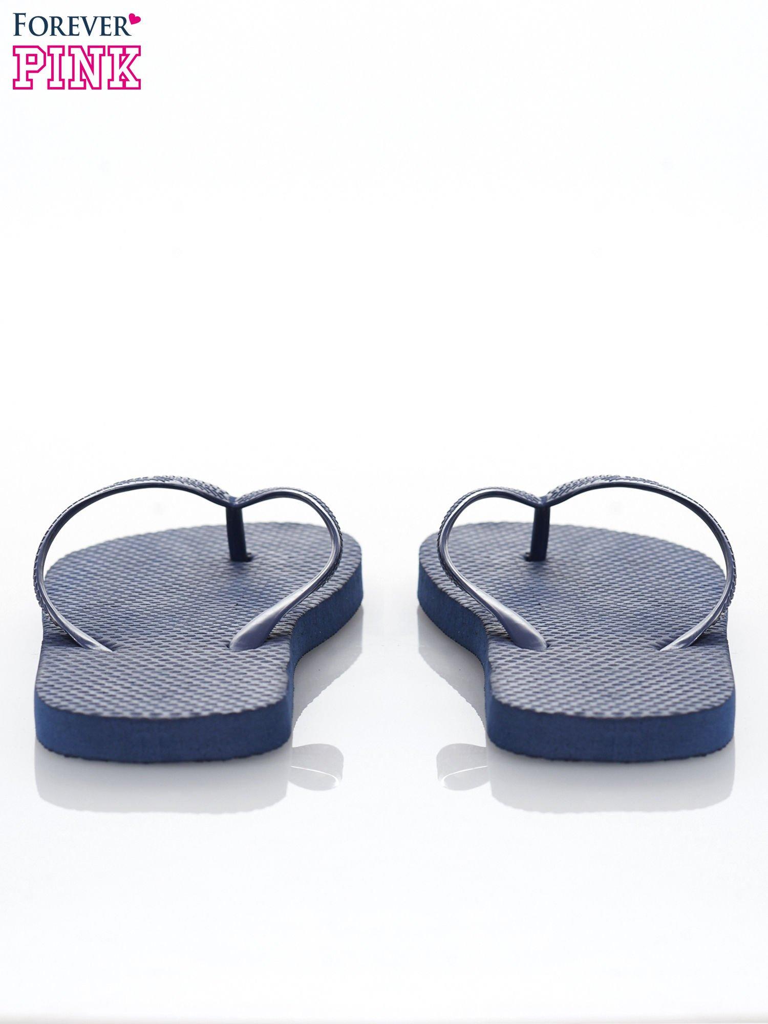 Granatowe gumowe japonki damskie                                  zdj.                                  3
